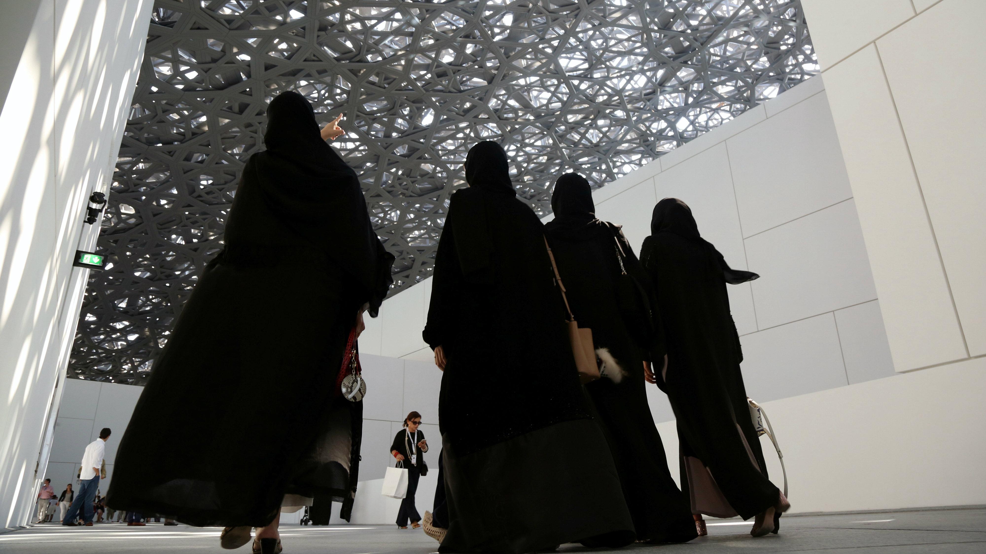 Visitors Louvre Abu Dhabi