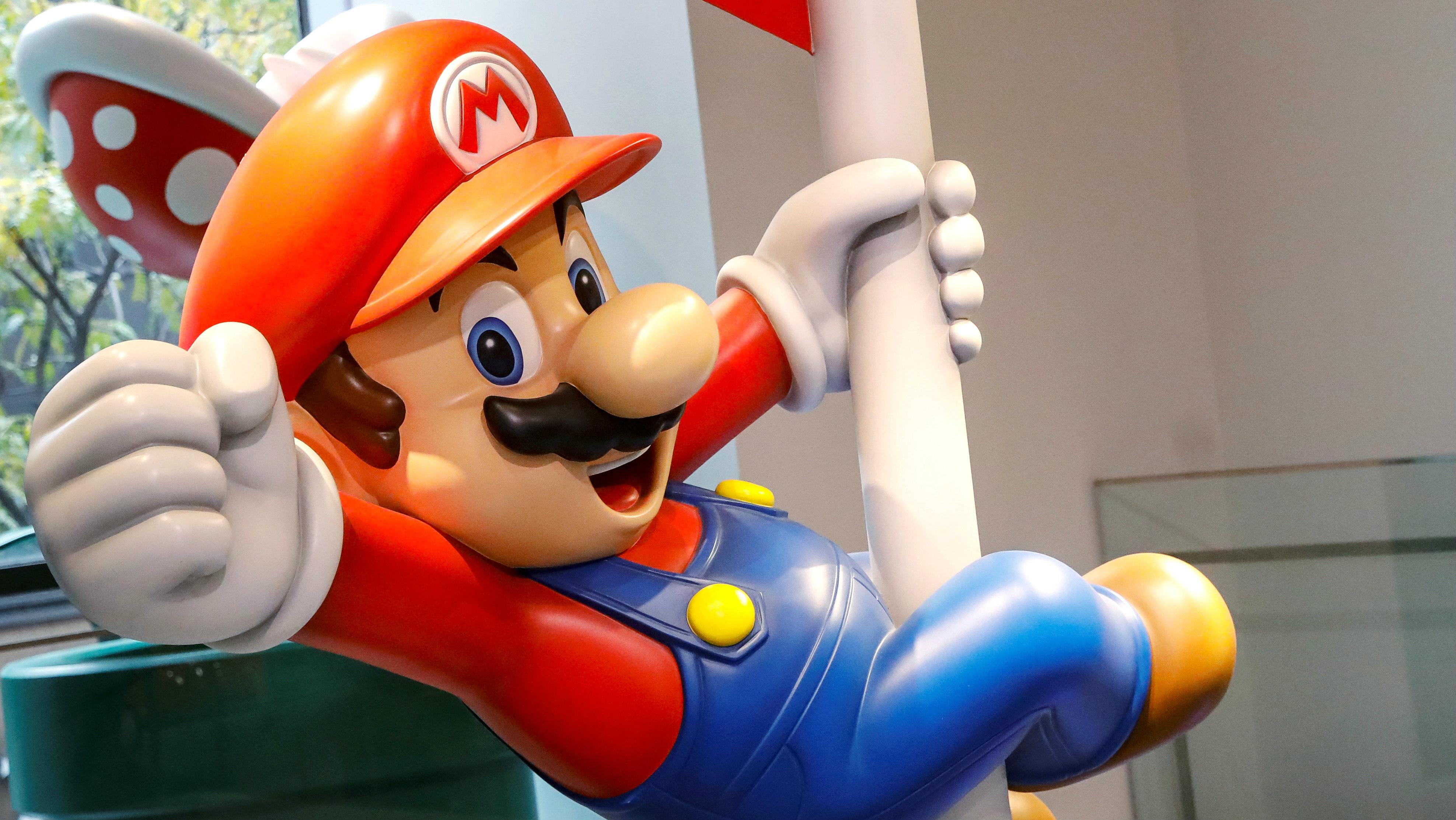 Nintendo's character Mario is seen in the Nintendo store in New York, U.S