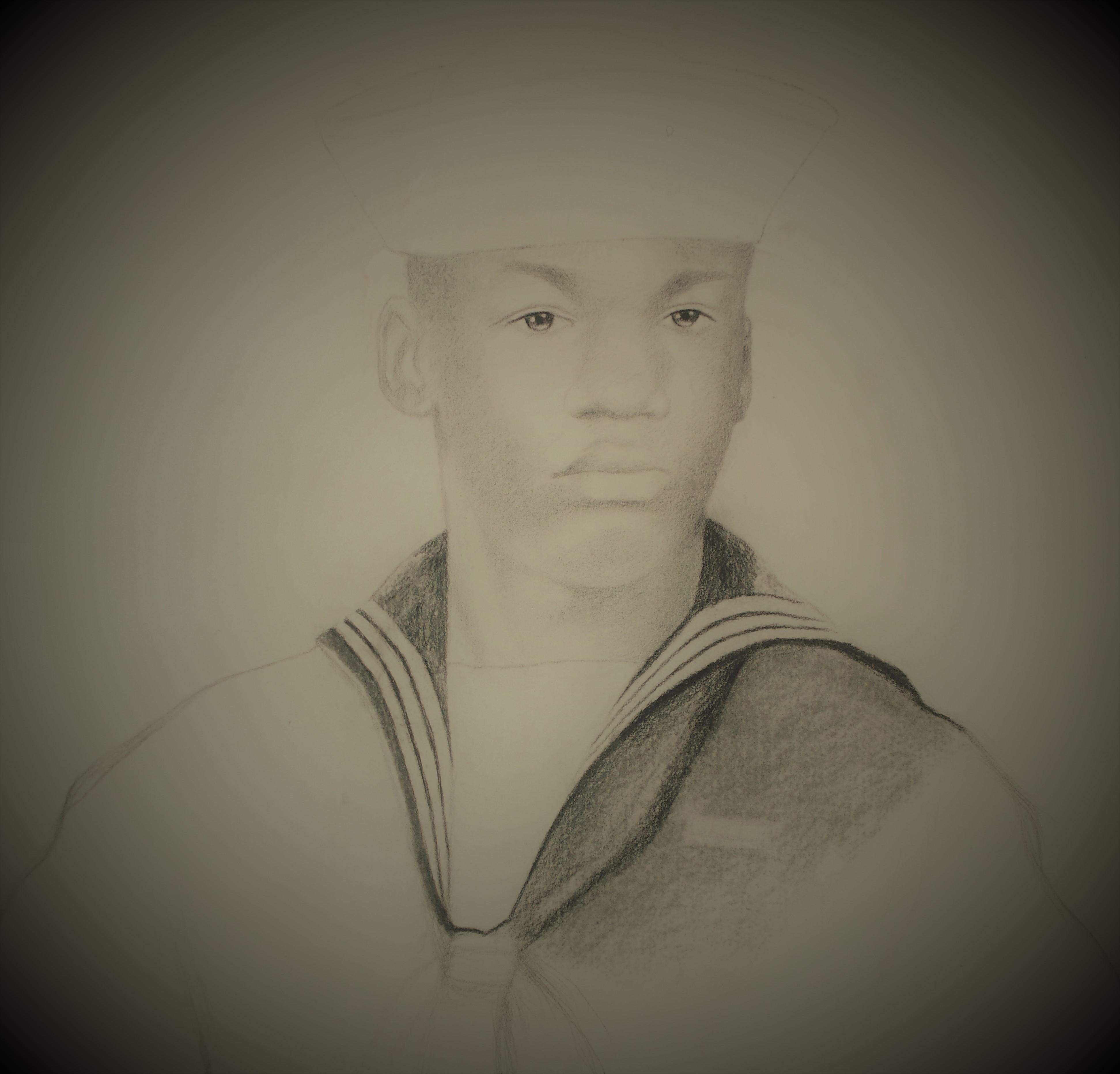 Alex Miller charcoal portrait