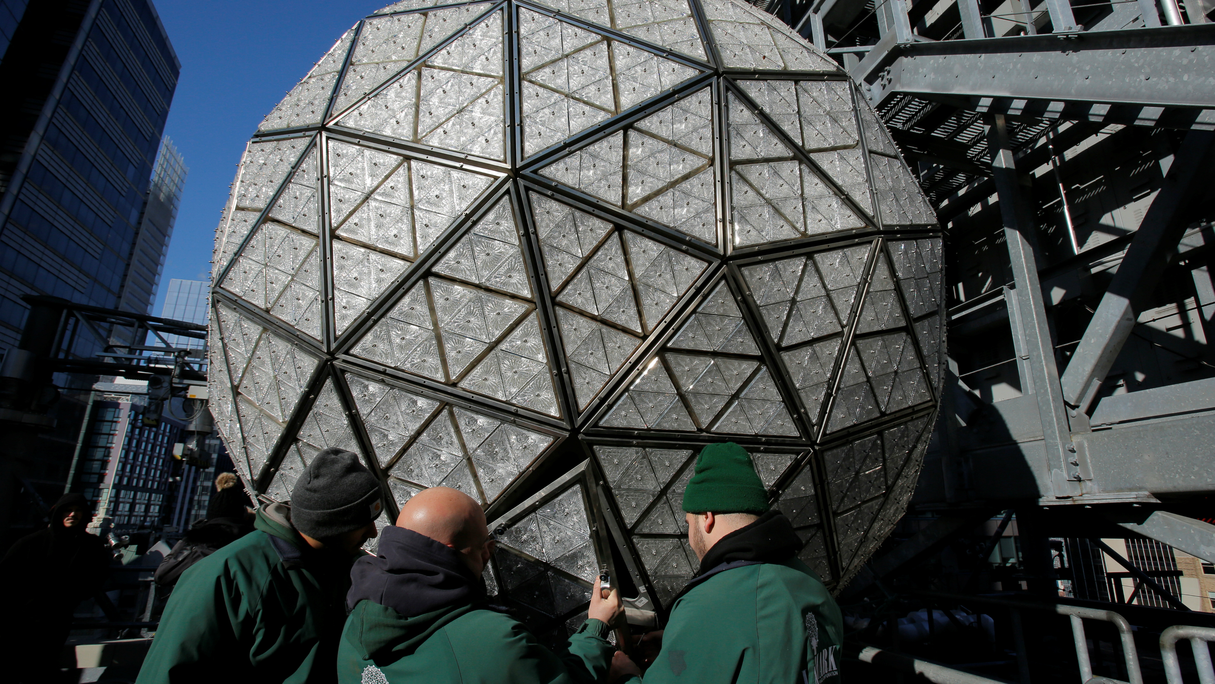 The New Year's eve ball.