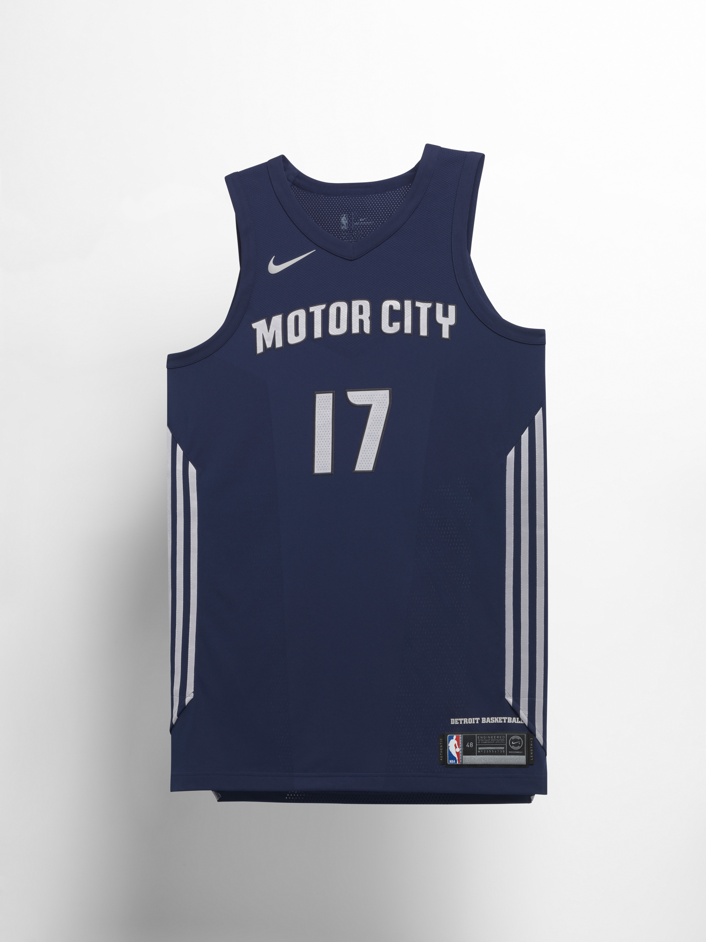 50a58d03e Detroit Pistons. The lines and chrome detailing in the Pistons  uniforms  pay homage ...