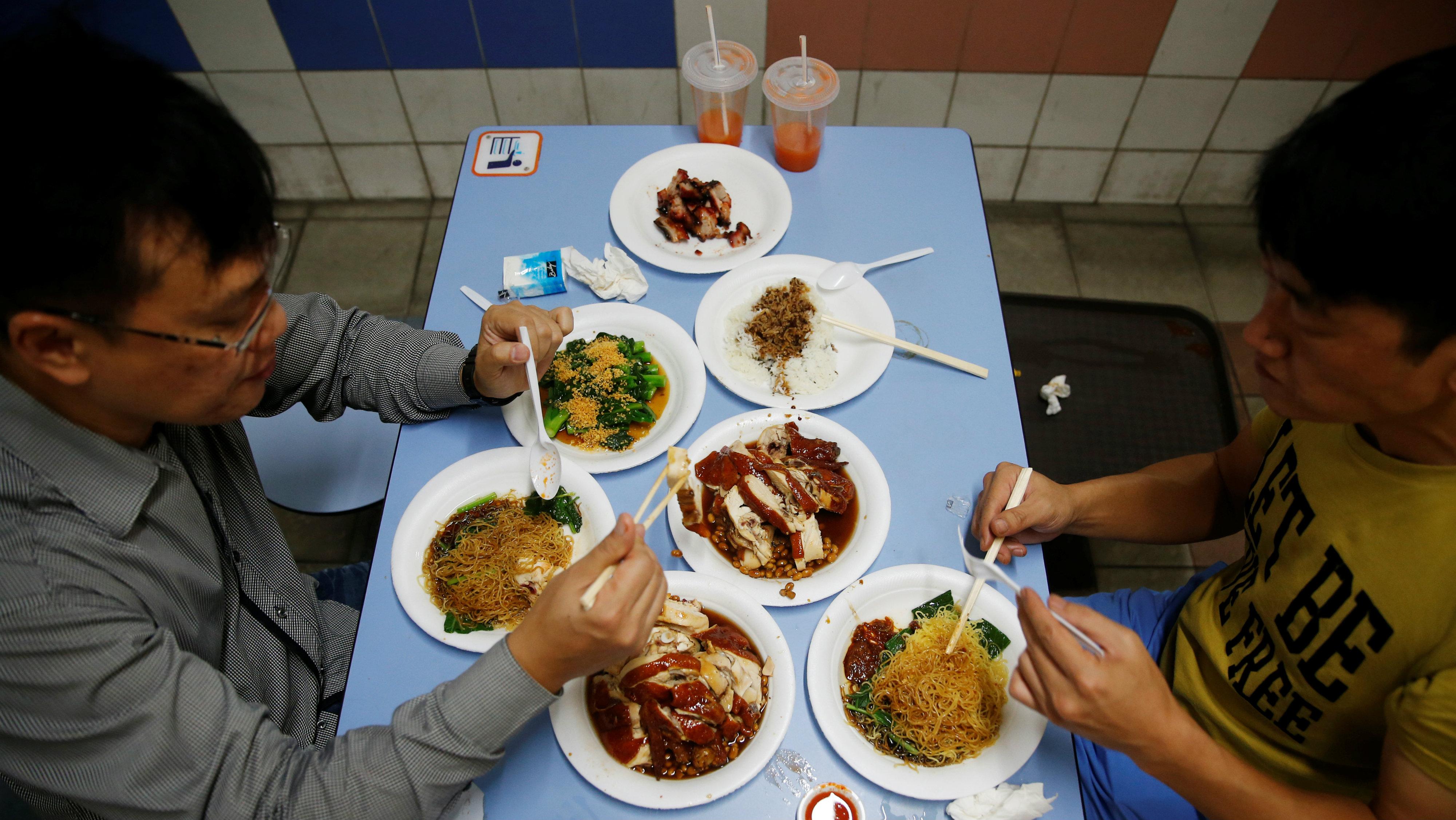 Asian restaurant meal