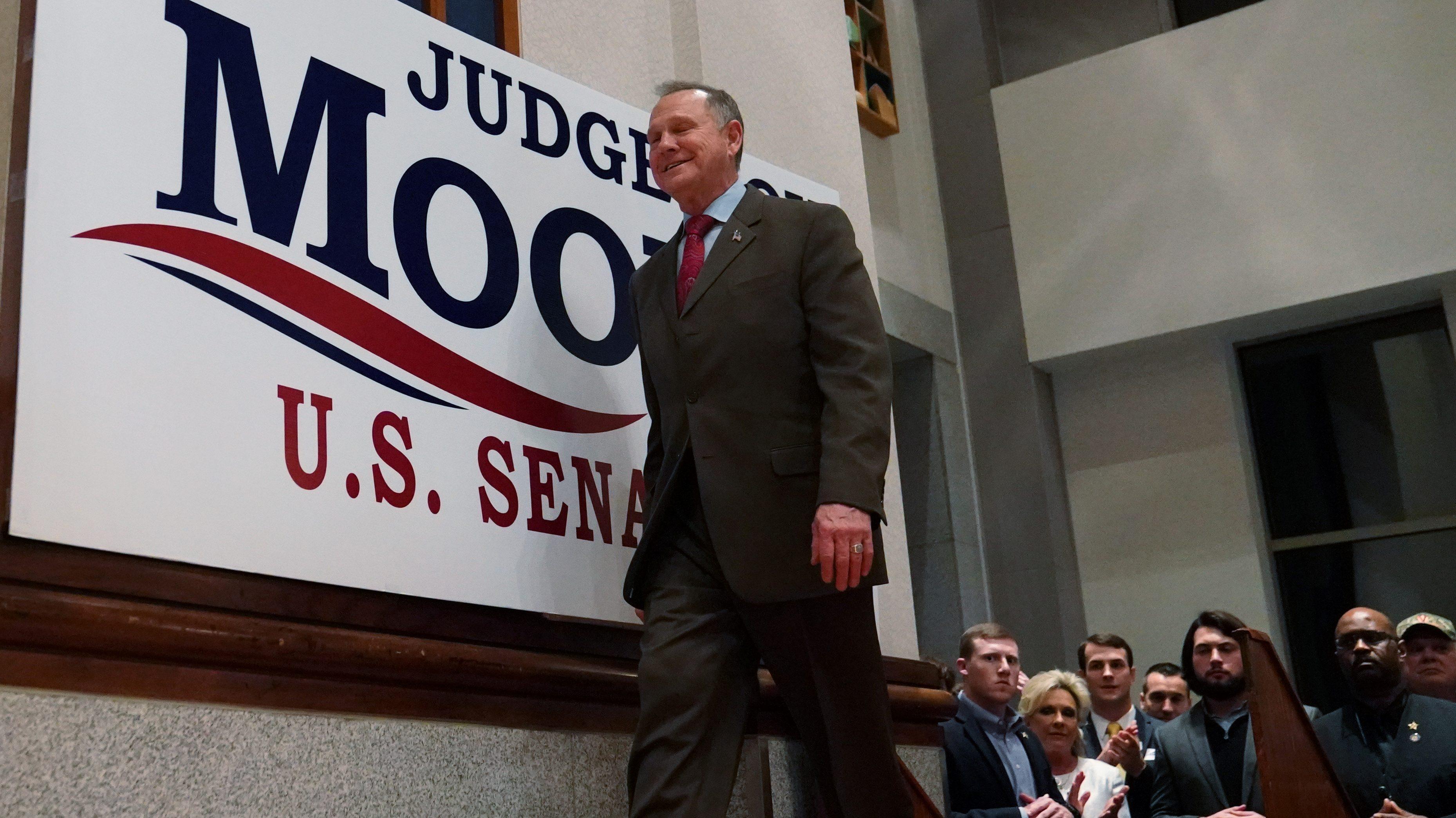 Republican U.S. Senate candidate Roy Moore