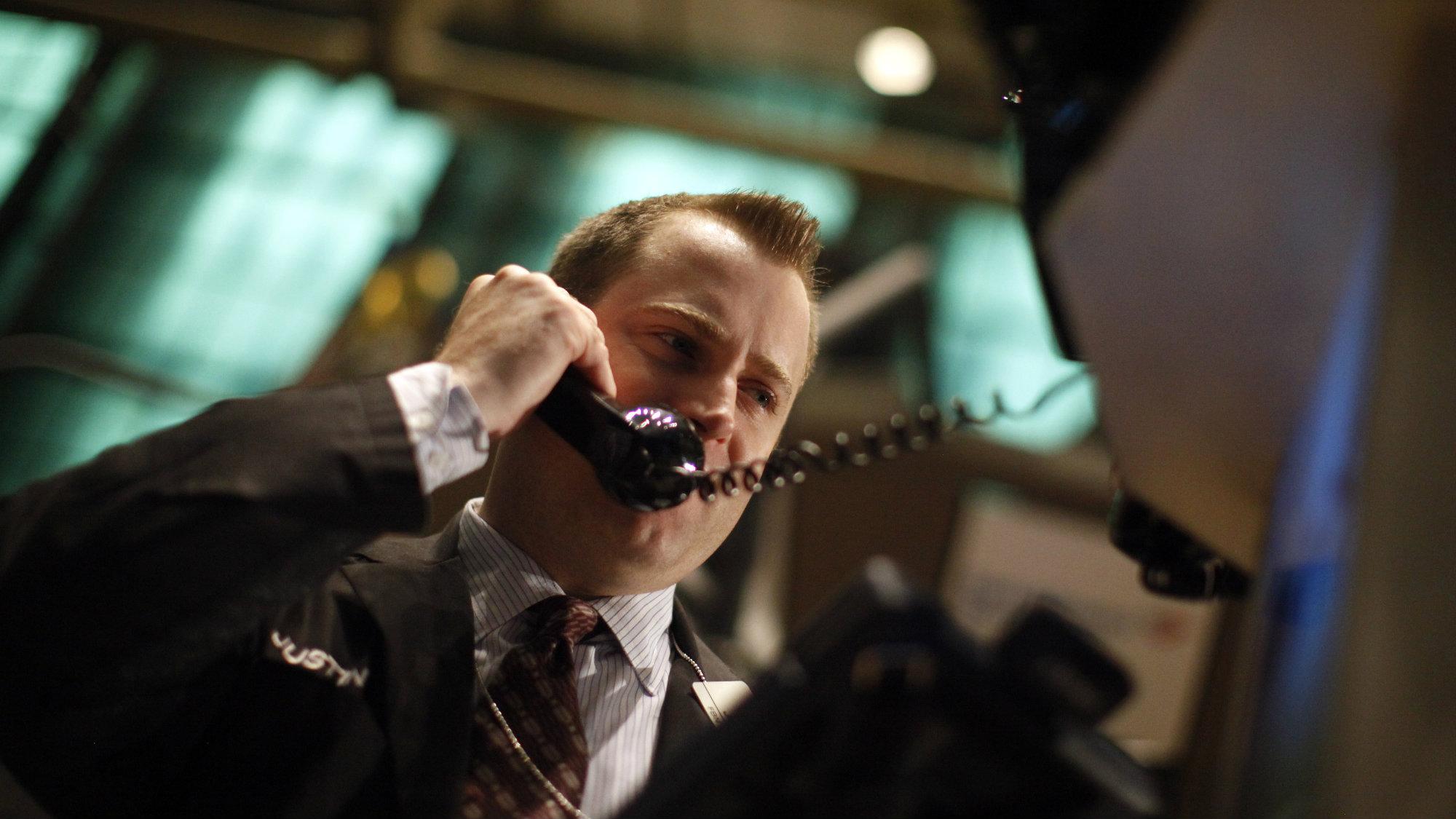 A businessman on the phone