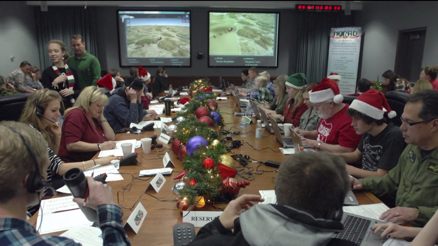 NORAD tracks Santa as he starts his journey as shown in this handout photo provided by North American Aerospace Defense Command Santa Tracker