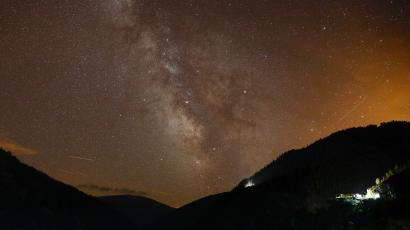 Milky Way is seen during the annual Perseid meteor shower.