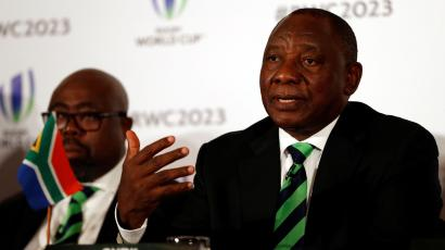 Cyril Ramaphosa, Deputy President of South Africa during the press conference in September 2017.