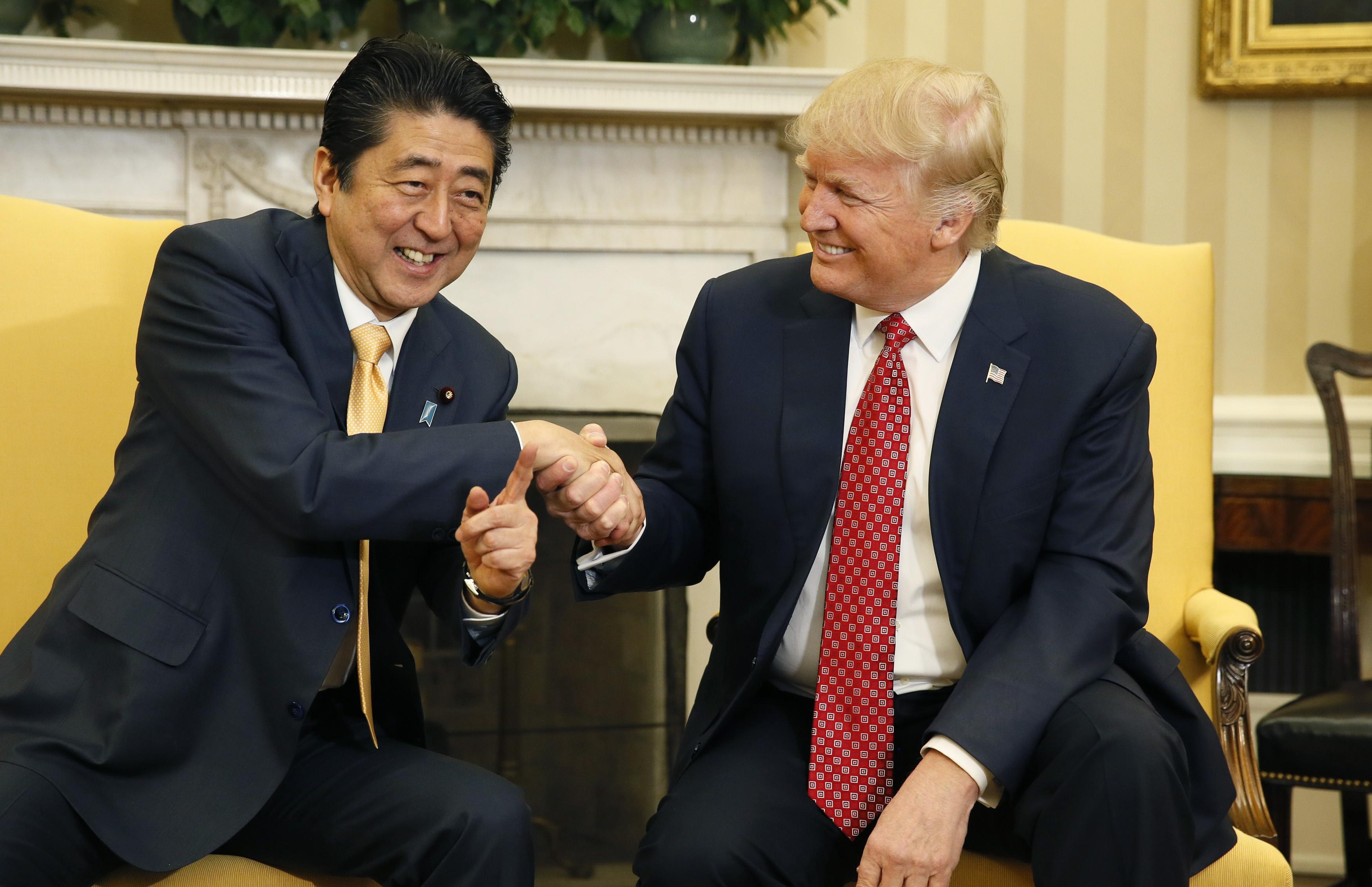Abe Trump handshake