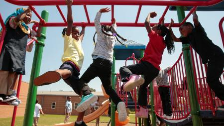 Children play during recess