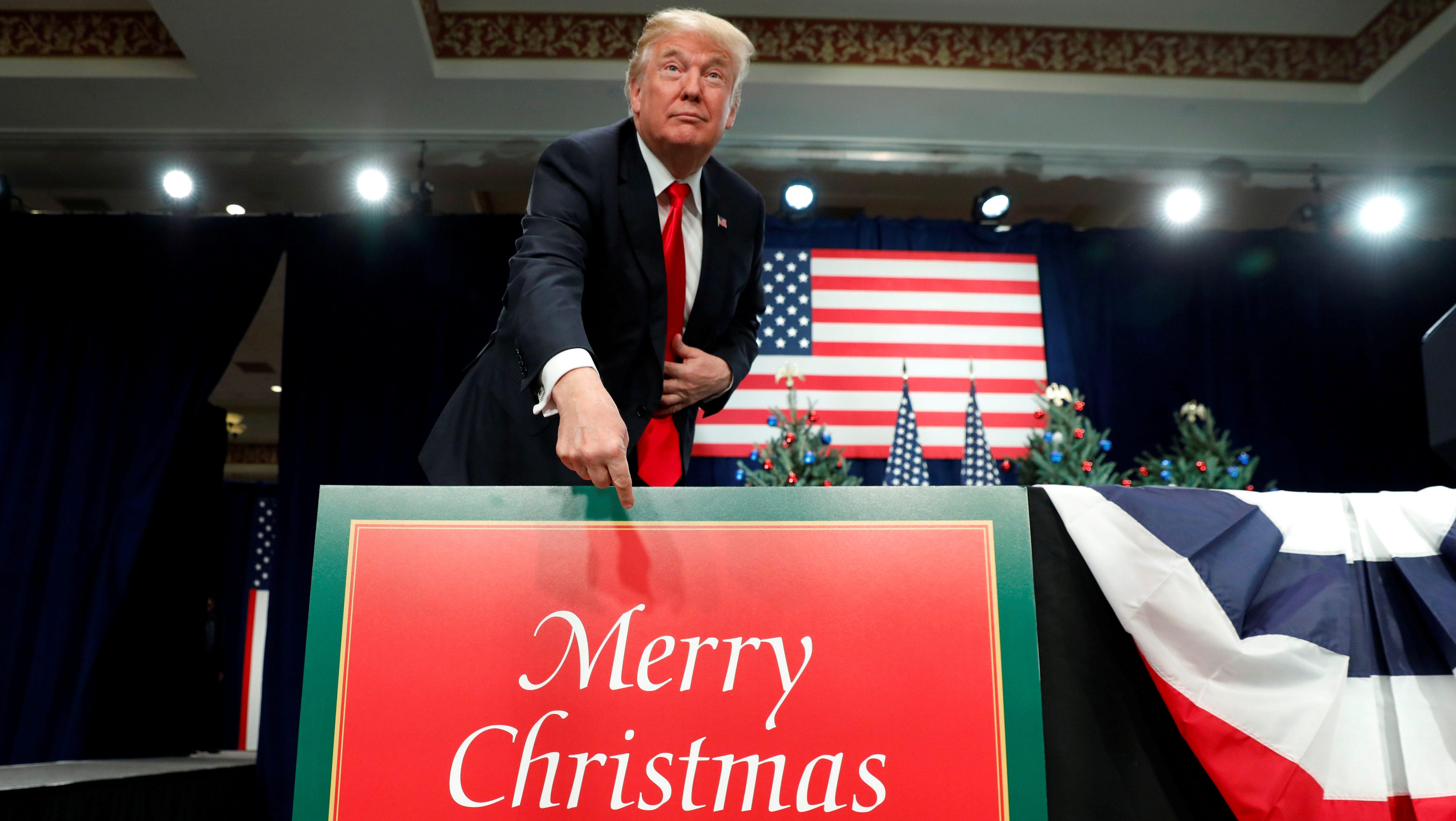 FILE PHOTO: U.S. President Trump visits St. Louis, Missouri to speak about tax reform