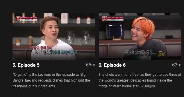 Big Bang's Taeyeng and G-Dragon on Chef & My Fridge.