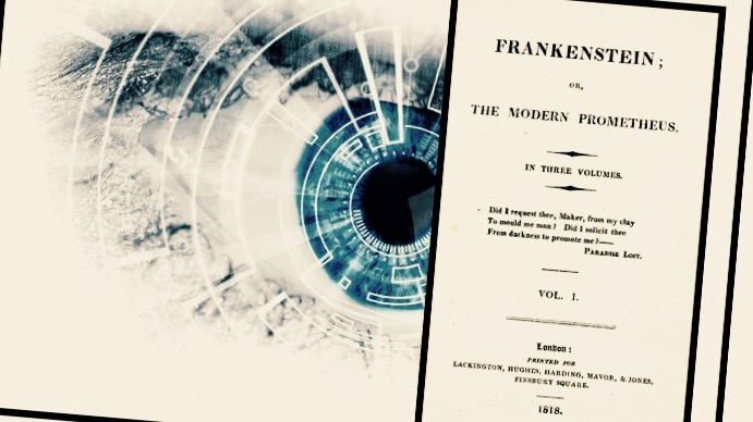 "Title page of the the 1818 printing of ""Frankenstein."""
