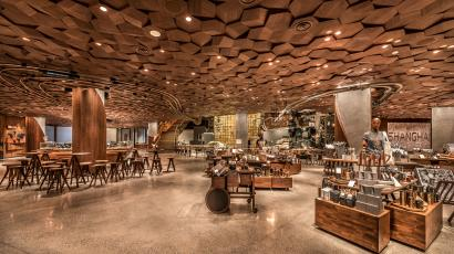 The new Starbucks Roastery in Shanghai, China.