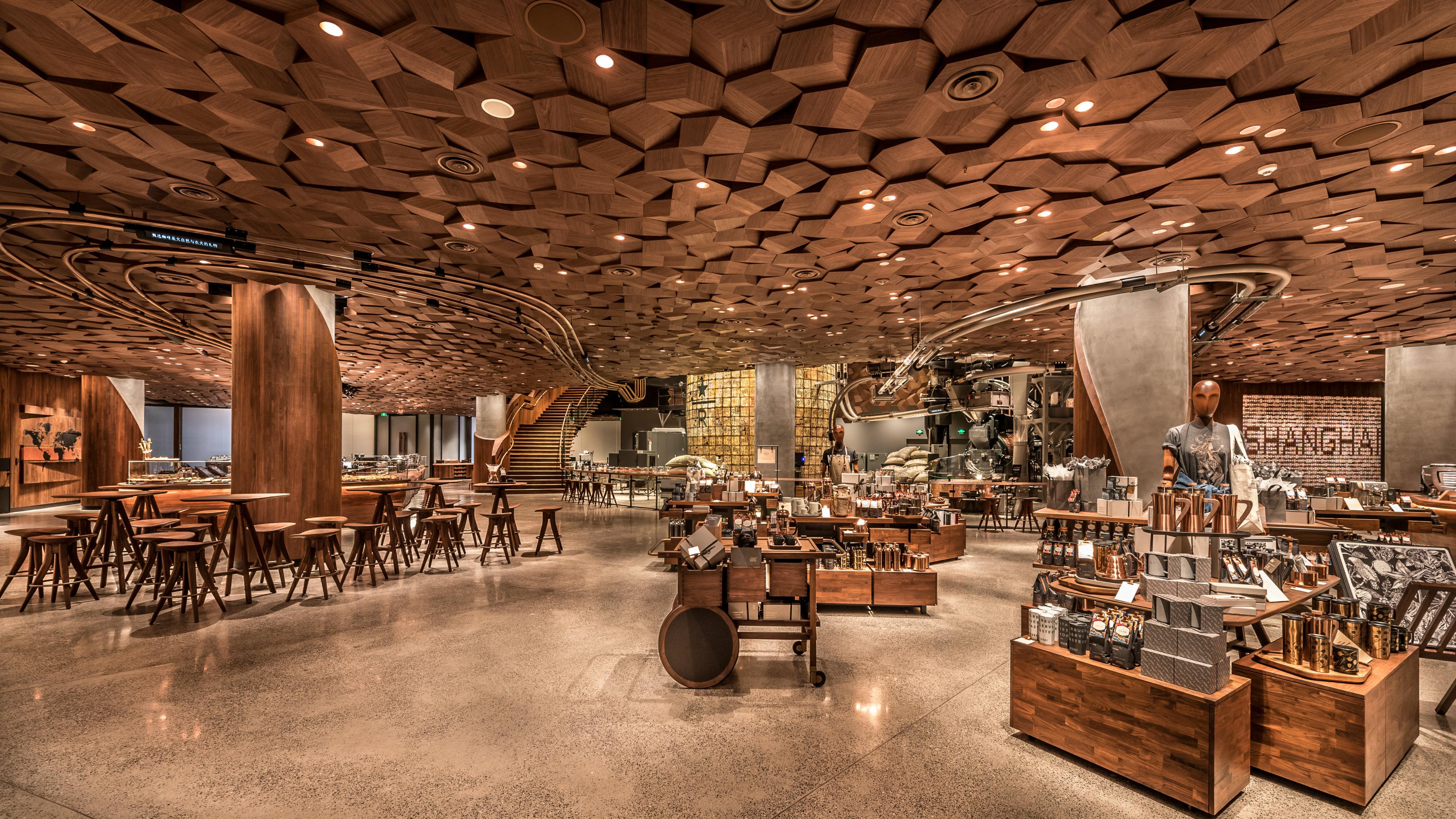 The new Starbucks Roastery in Shanghai, China.