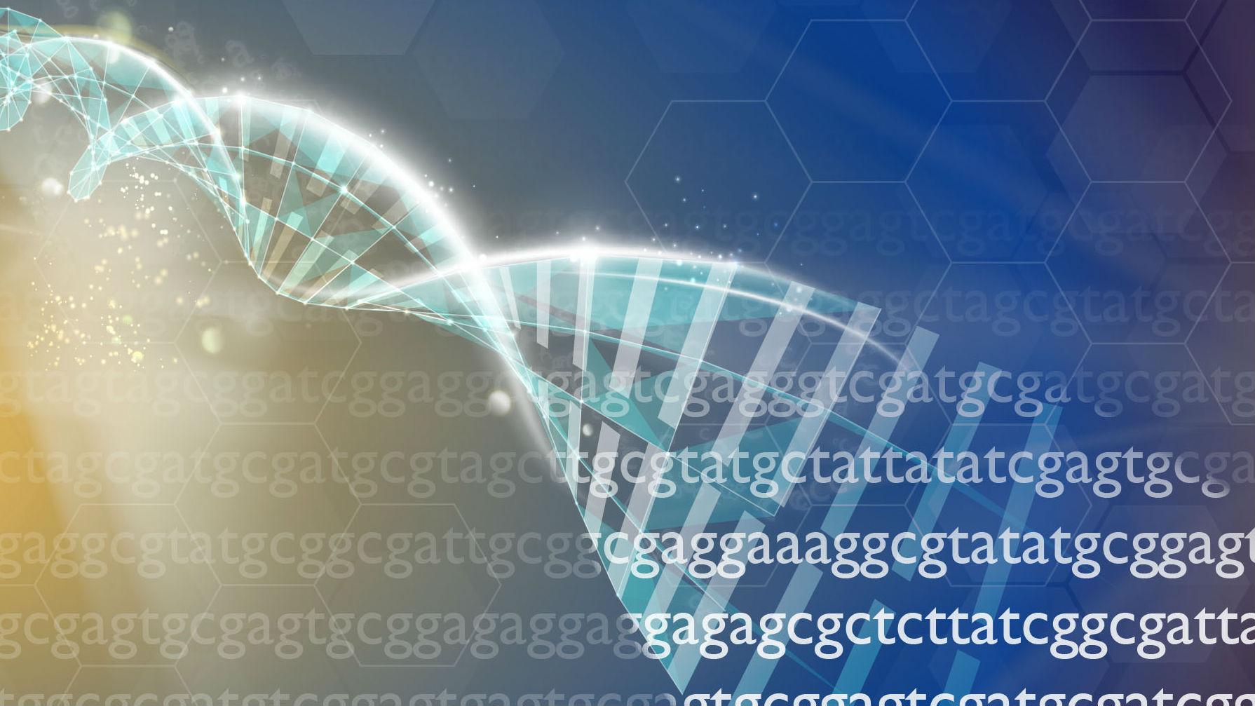 An illustration of RNA transcription