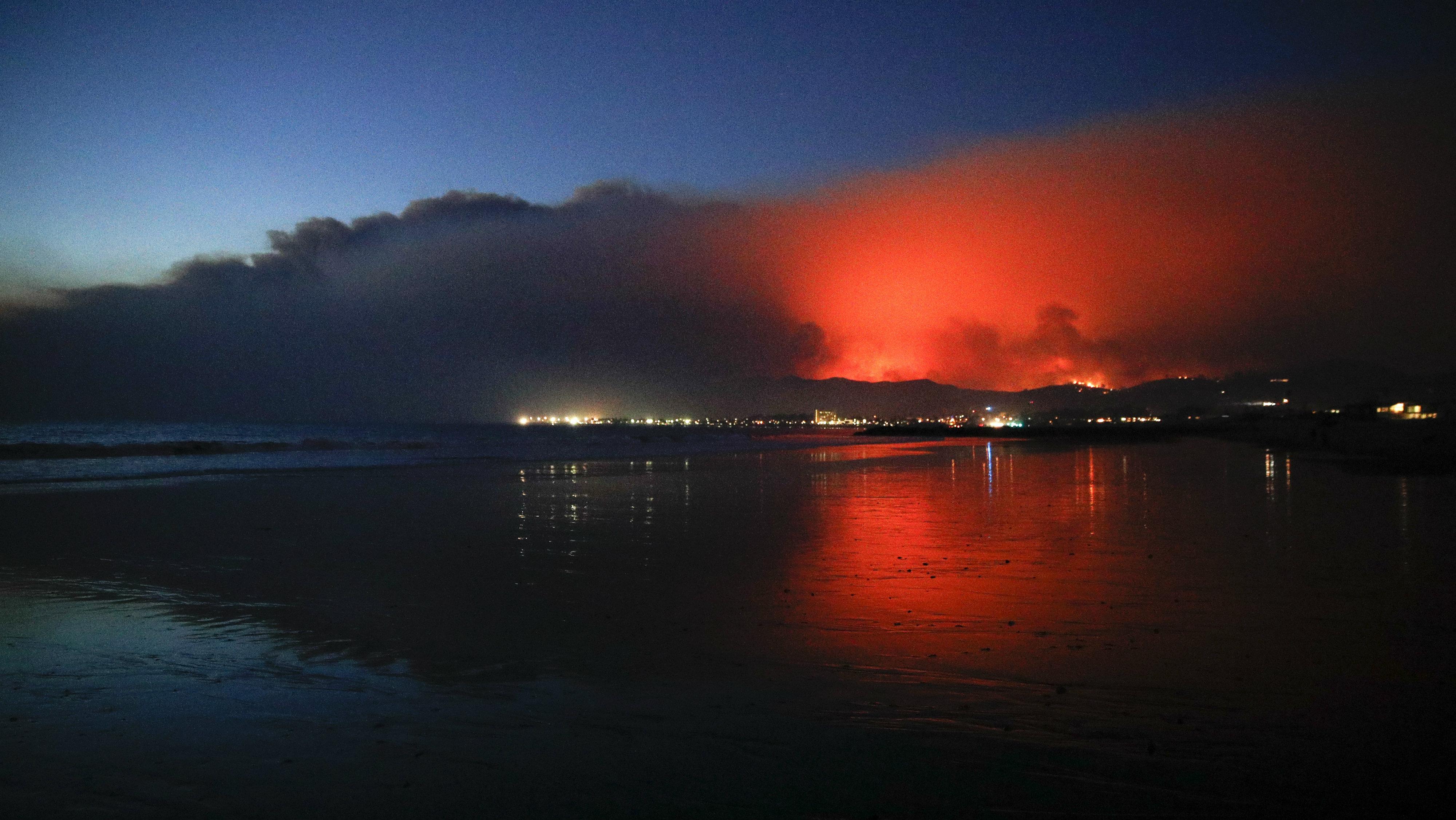 Ventura Beach smoke