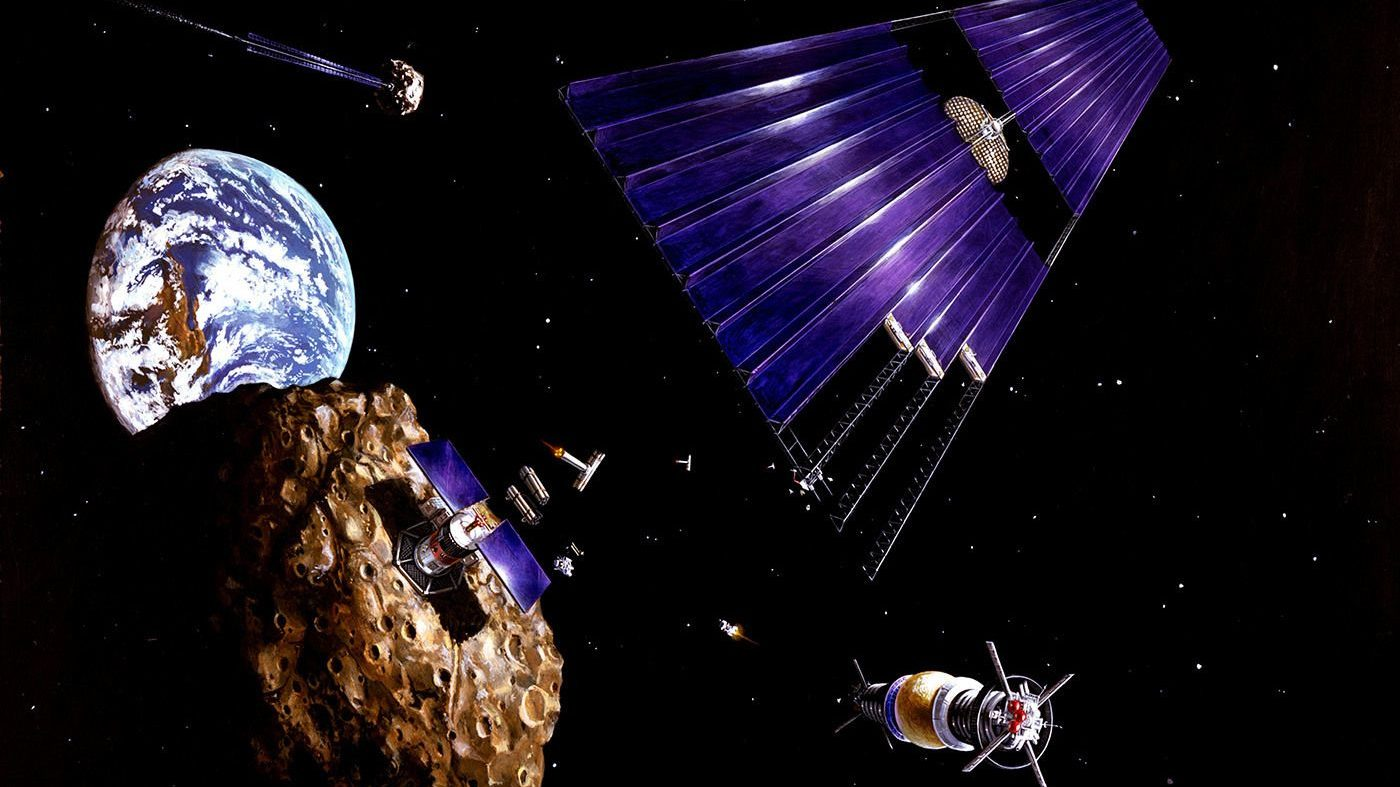 NASA artist interpretation of asteroid mining.