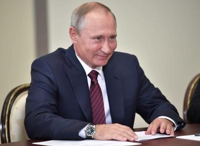 Putin joked about not being included in the giant list.