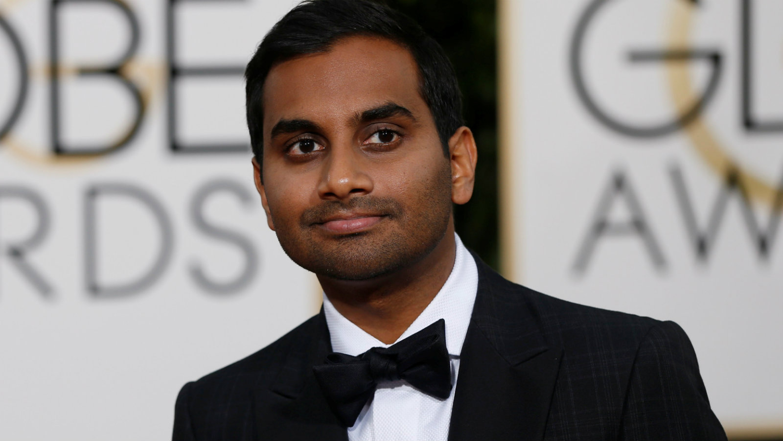 Actor Aziz Ansari arrives at the 73rd Golden Globe Awards in Beverly Hills, California, U.S. on January 10, 2016.