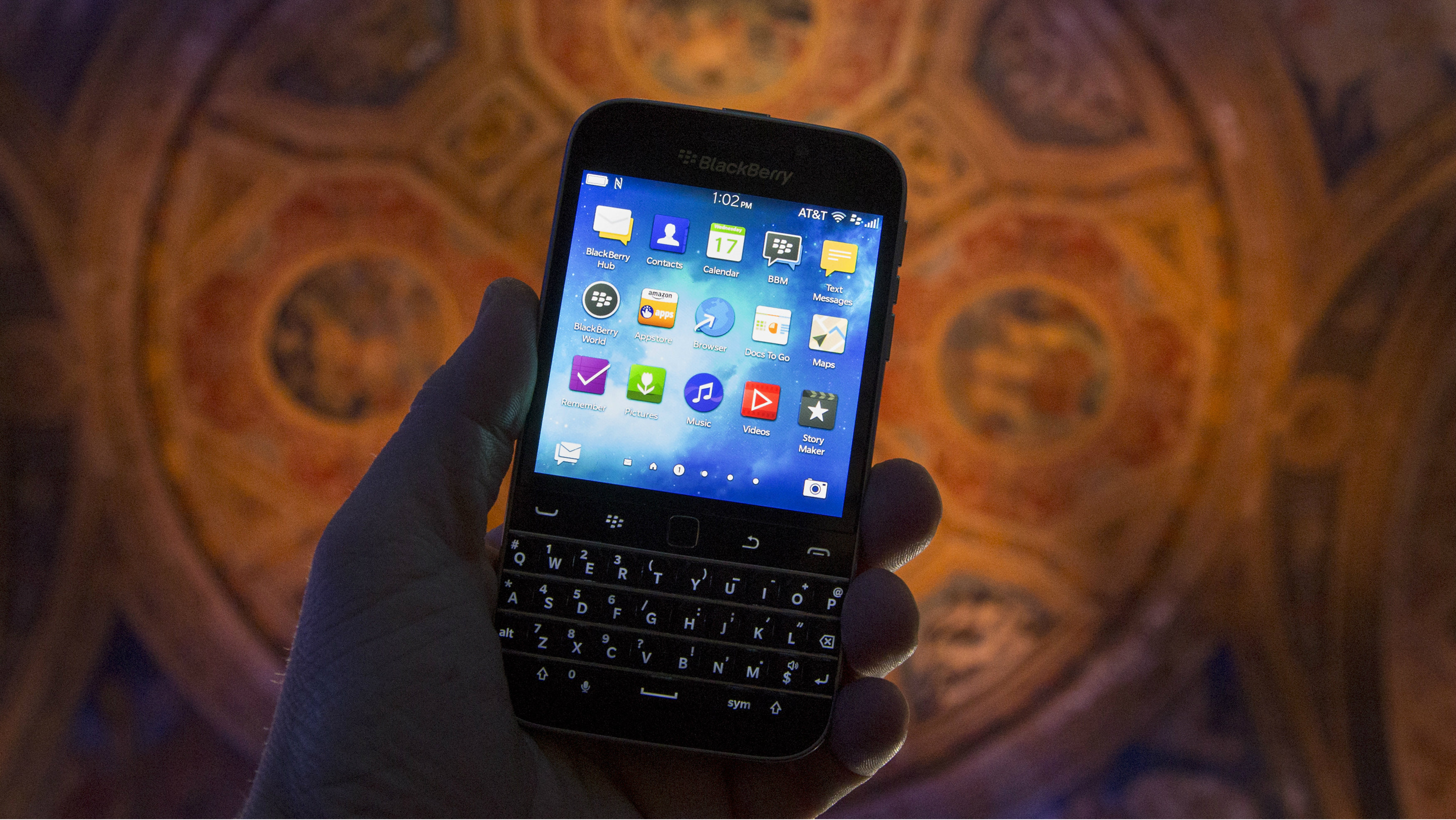 The new Blackberry Classic smartphone is shown during a display at the launch event in New York, December 17, 2014. BlackBerry Ltd launched its long-awaited Classic on Wednesday, a smartphone it hopes will help it win back market share and woo those still using older versions of its physical keyboard devices.