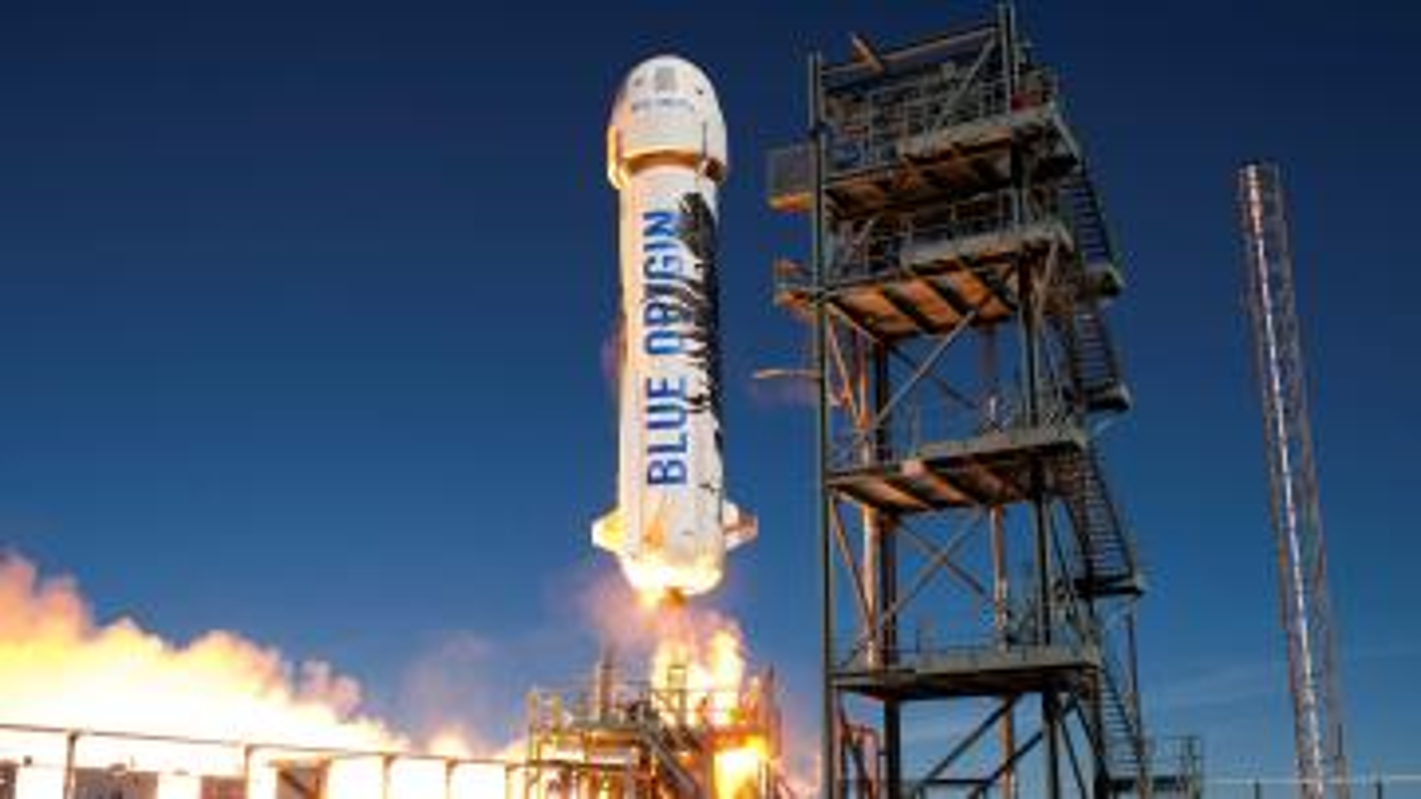 Blue Origin's New Shepard spacecraft launches in 2016.