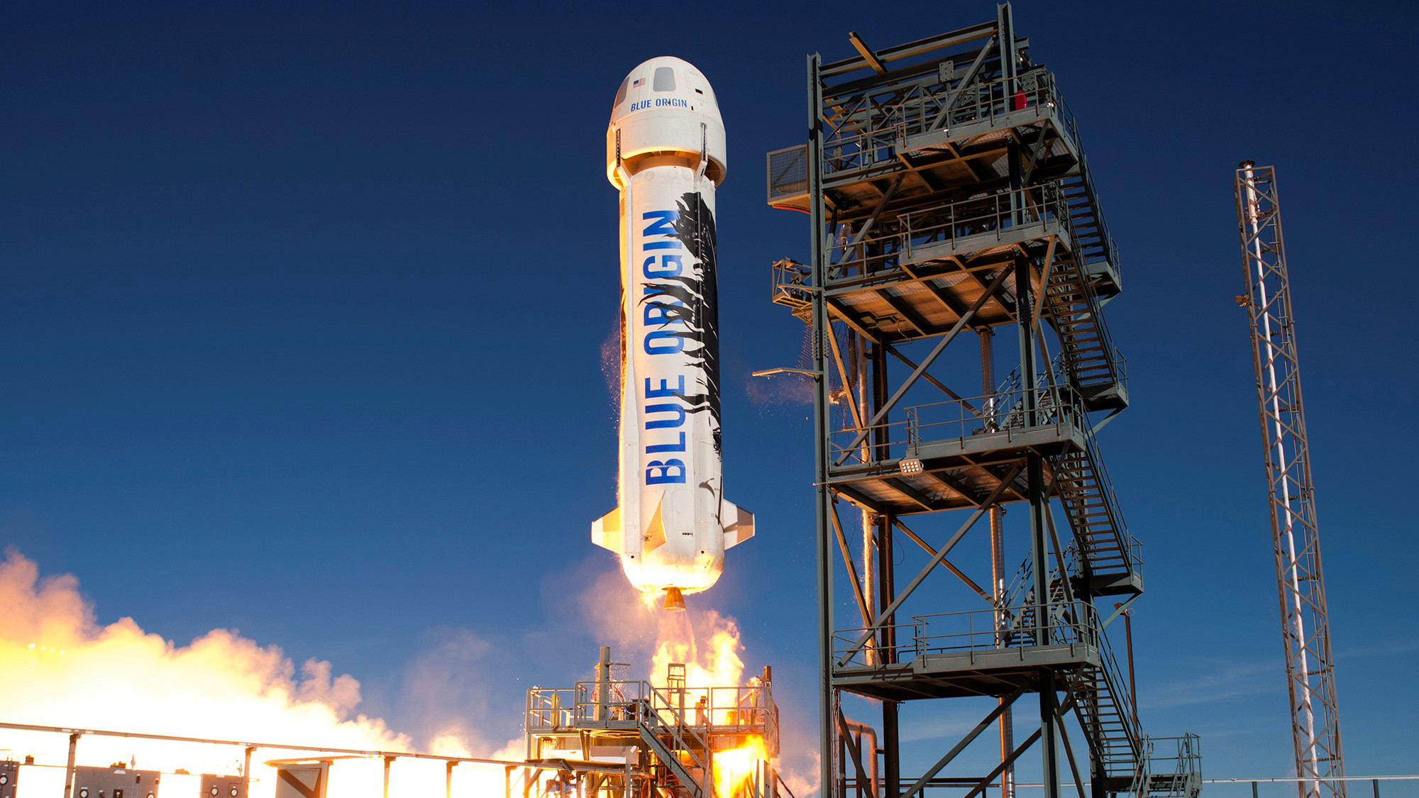 Blue Origin's New Shepard spacecraft launches in 2016.