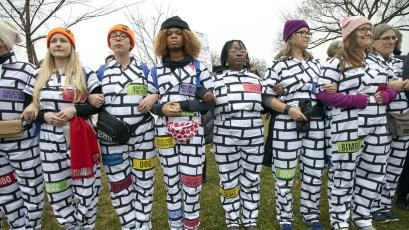 ca62197b11a545 Women's March 2018: The multi-state plan to create a human wall to ...