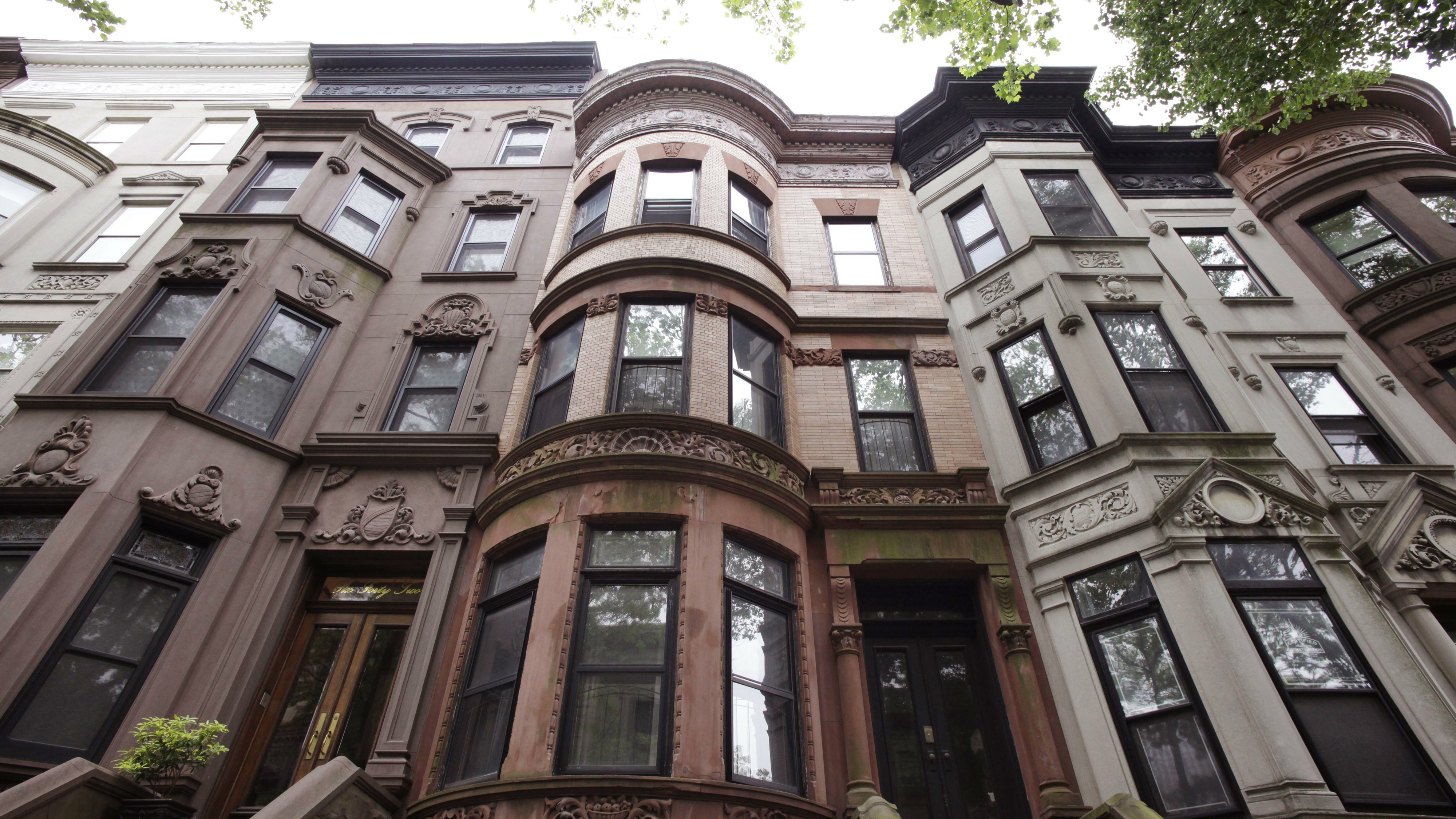 A brownstone in New York.