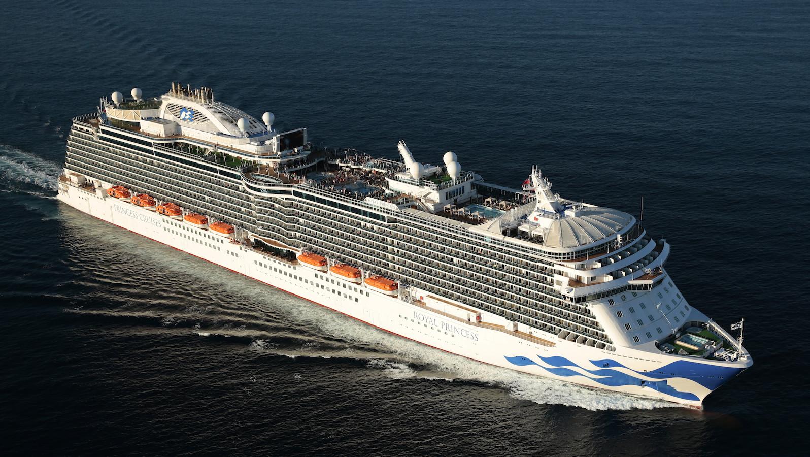 The Carnival Regal Princess at sea.