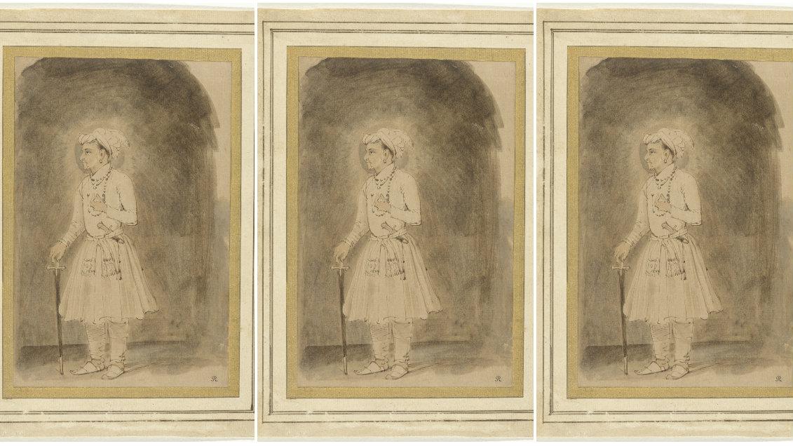 A drawing of the Mughal emperor Jahangir by Dutch painter Rembrandt.