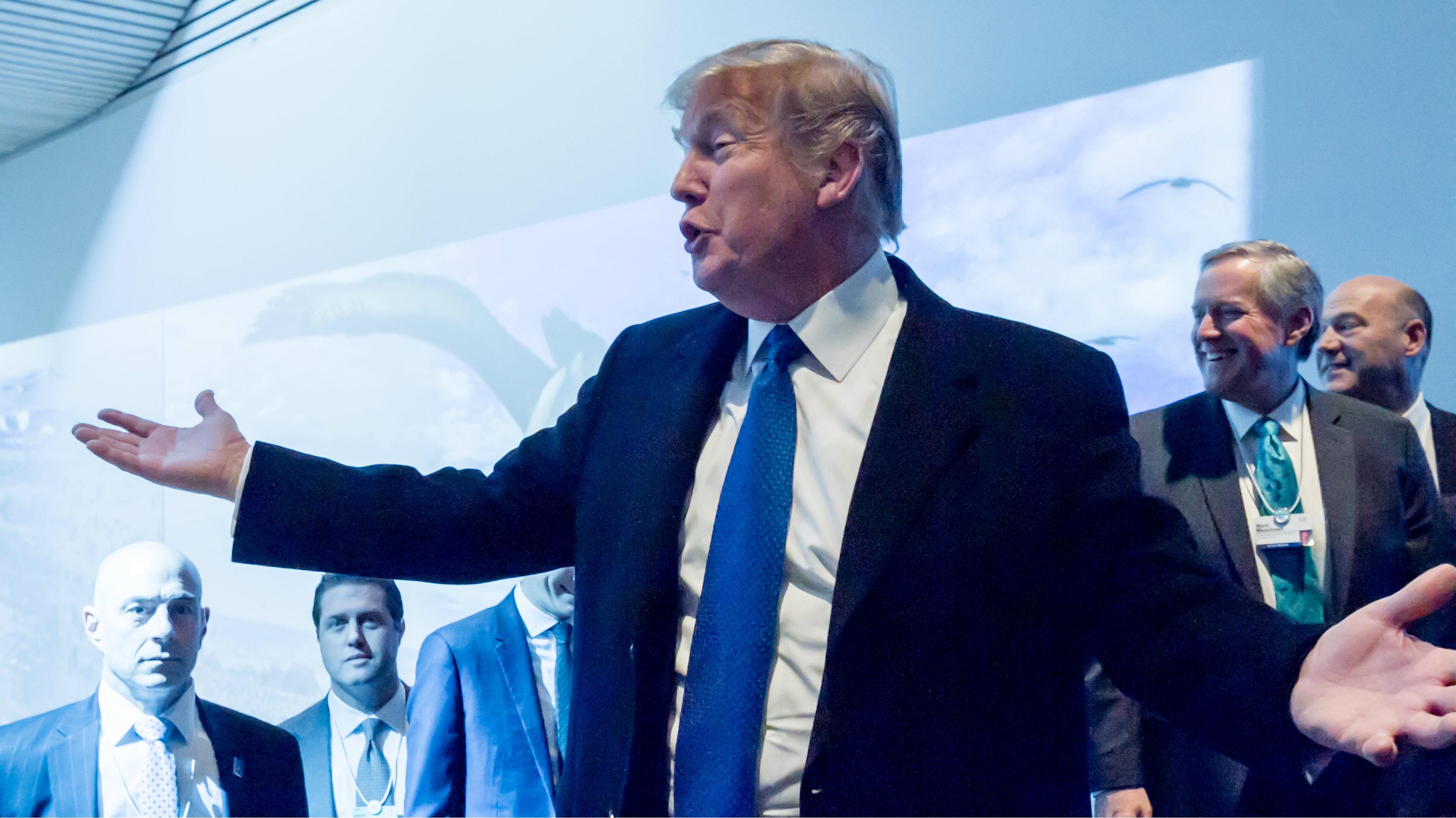 "Davos founder Klaus Schwab defends Donald Trump against ""biased interpretations."""
