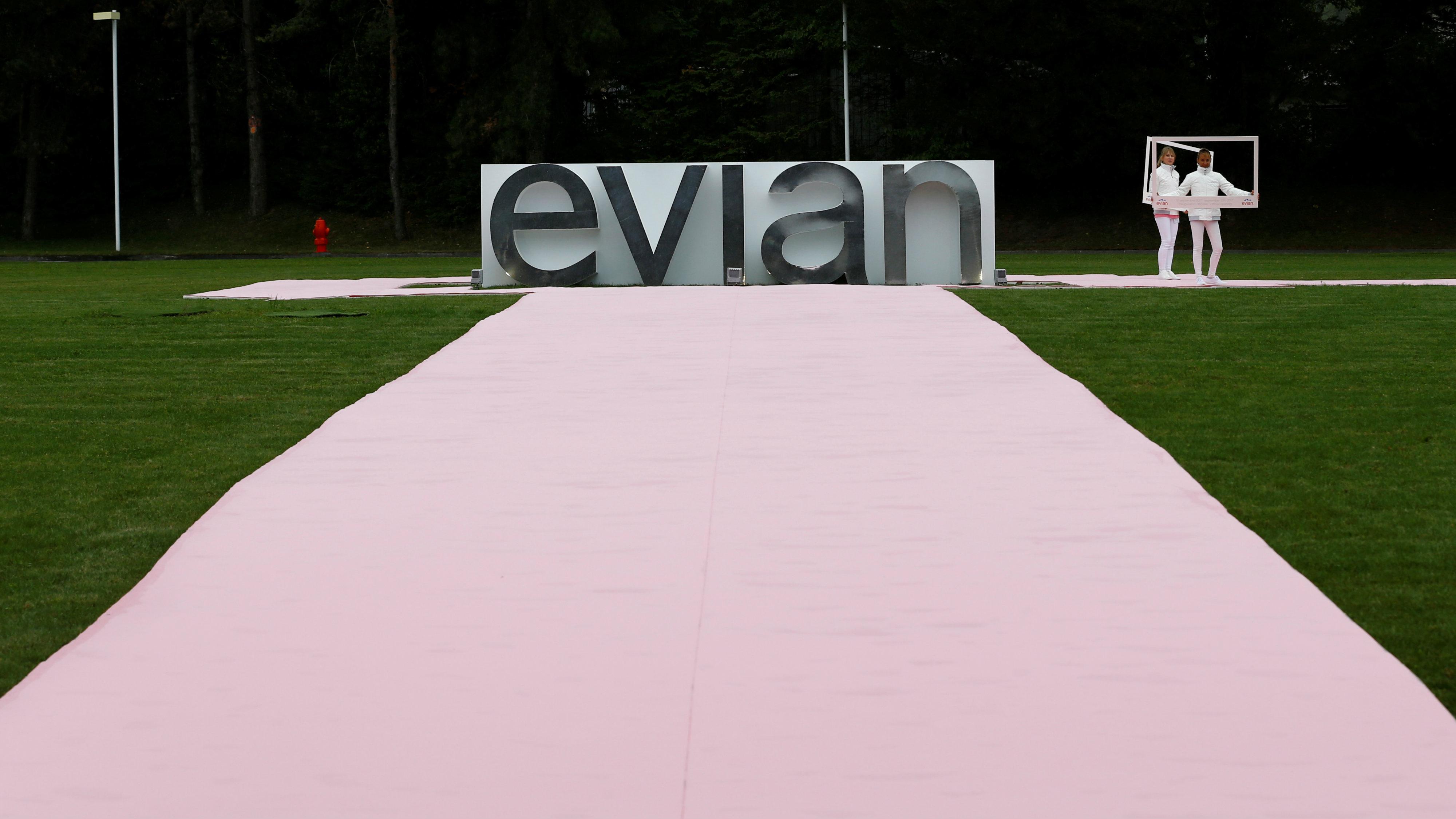 Evian display