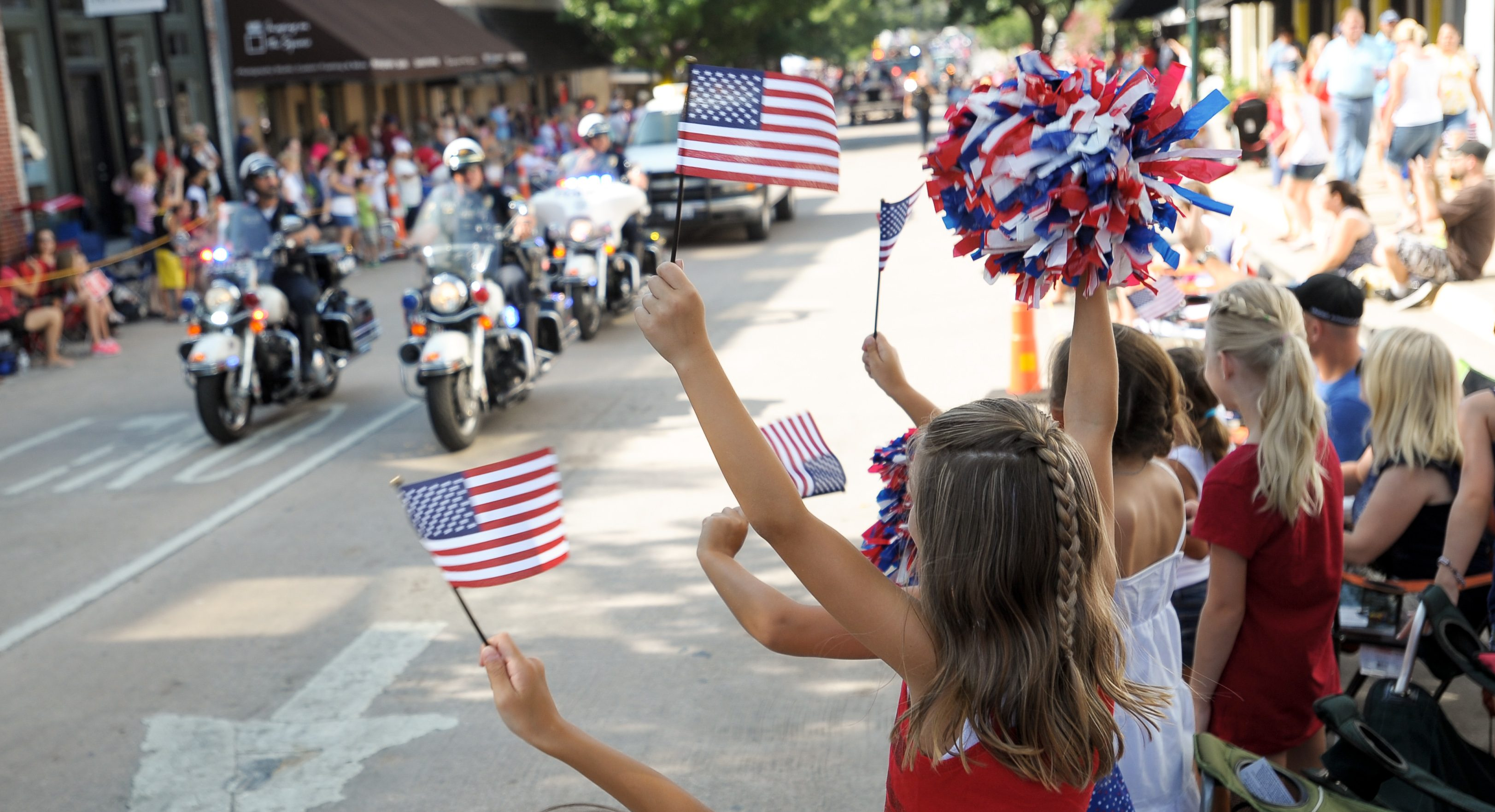 annual 4th of July parade in the McKinney, Texas town square.