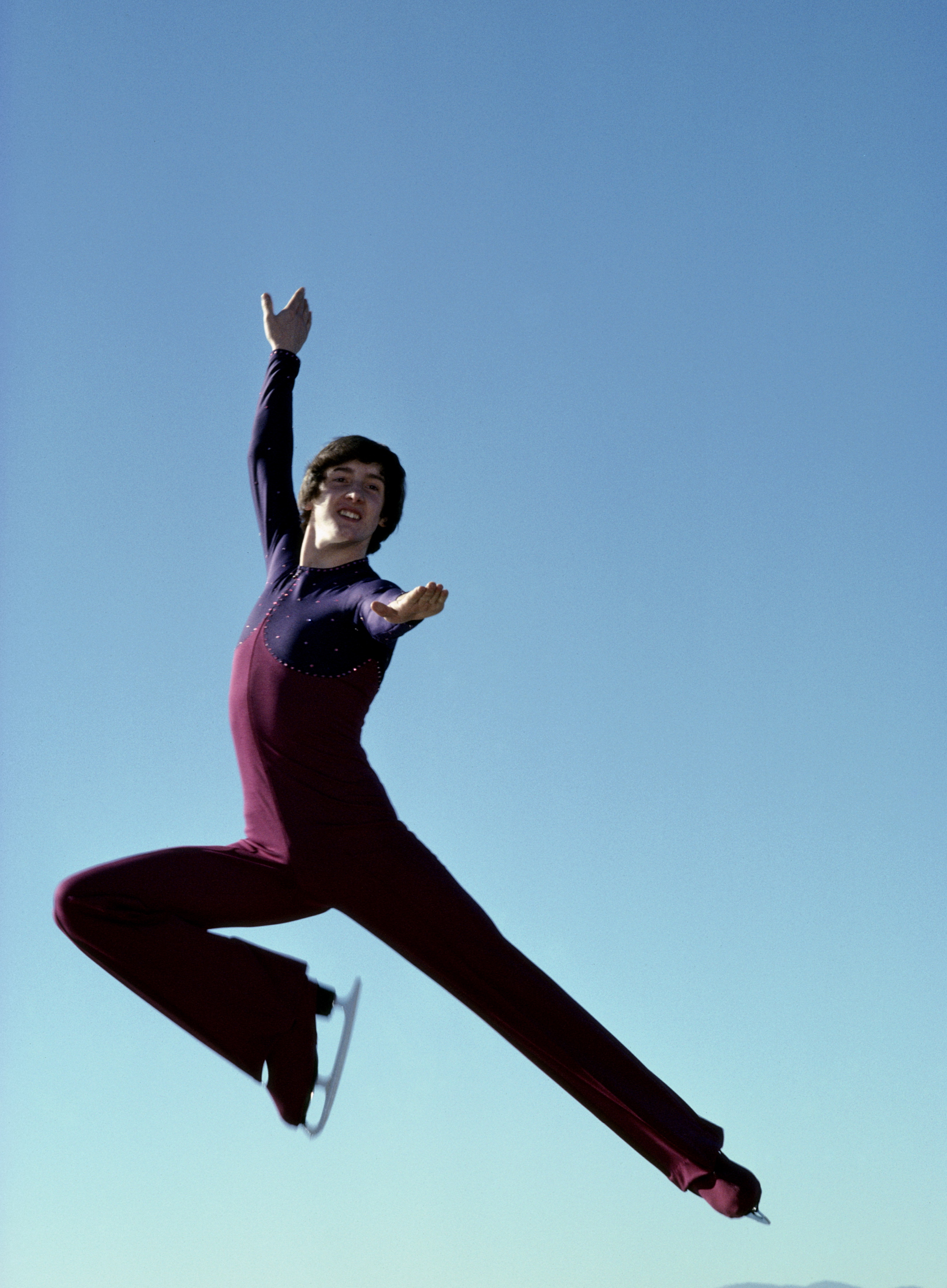 World and Olympic gold medal winning figure skater Robin Cousins of Great Britain on 1st December 1978 (Photo byTony Duffy/Getty Images)