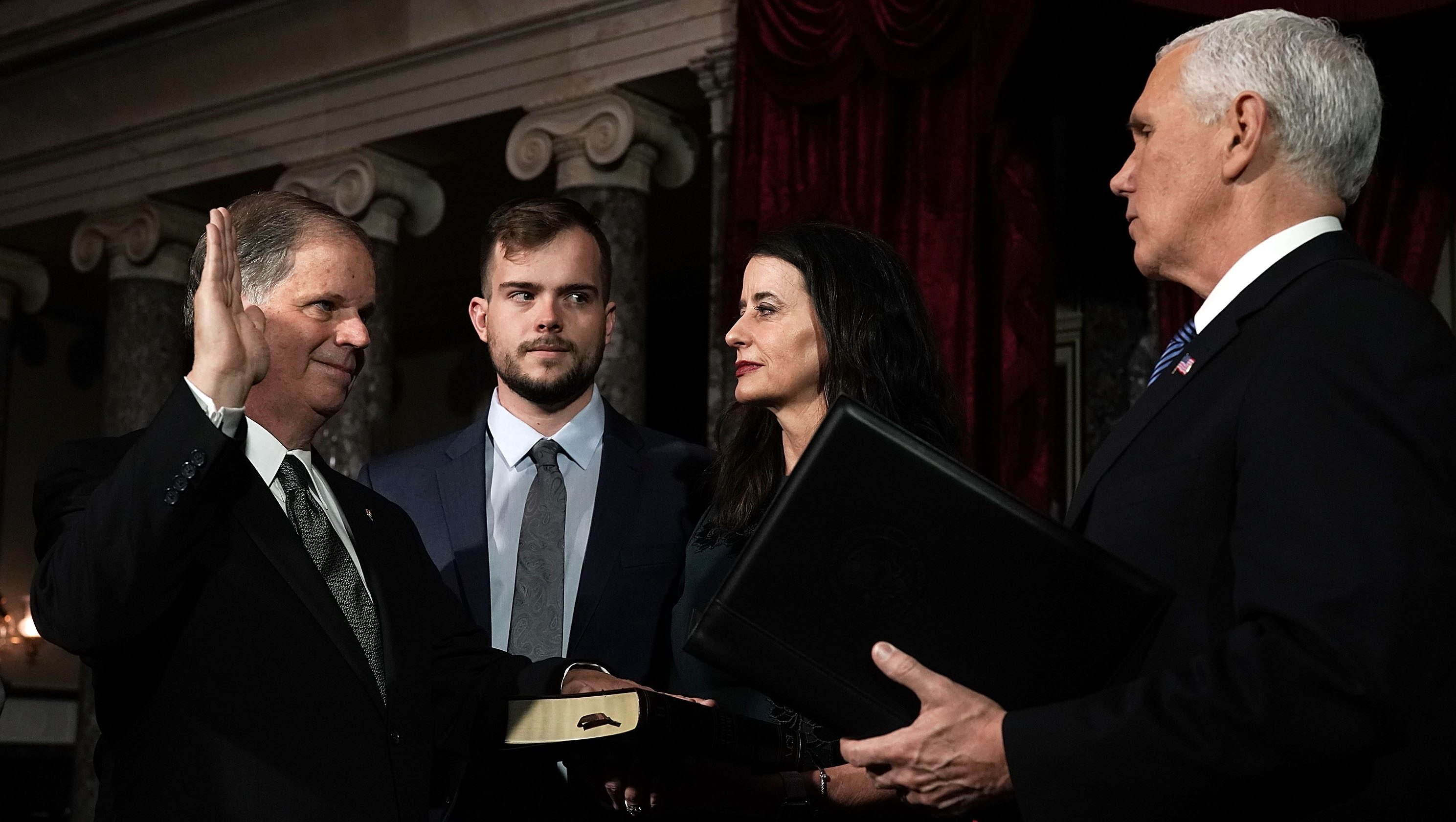 Newly Elected Senators Doug Jones And Tina Smith Sworn Into Senate