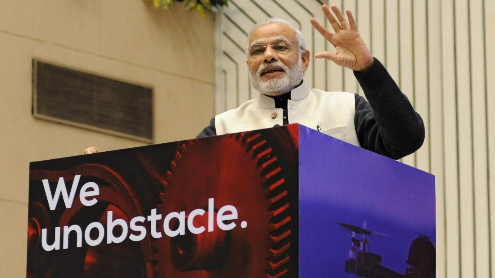 epa05105310 Indian Prime Minister Narendra Modi delivers a speech during 'Start Up India' event to launch the initiative and unveil the startup Action Plan by him in New Delhi, India, 16 January 2016. Centred around the entrepreneurial spirit of India, the Start-Up India plan is expected to boost the entrepreneurship in the country. The Indian government said it will introduce friendly tax measures and easy financing for start-ups to boost entrepreneurship at the grass-root level. With 4,200 firms, India already ranks third in the world in terms of the number of start-ups, behind the United States and Britain.  EPA/STR