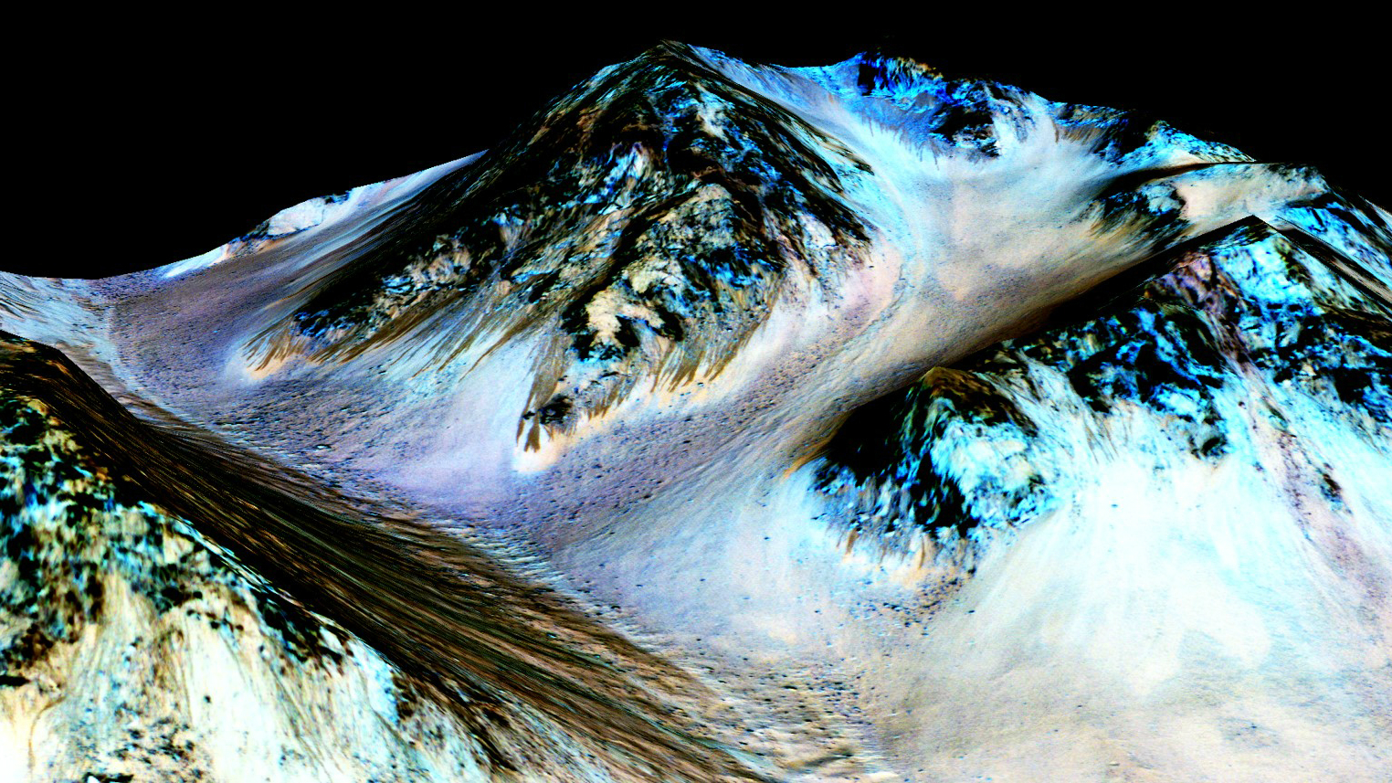Ice sheets on Mars.