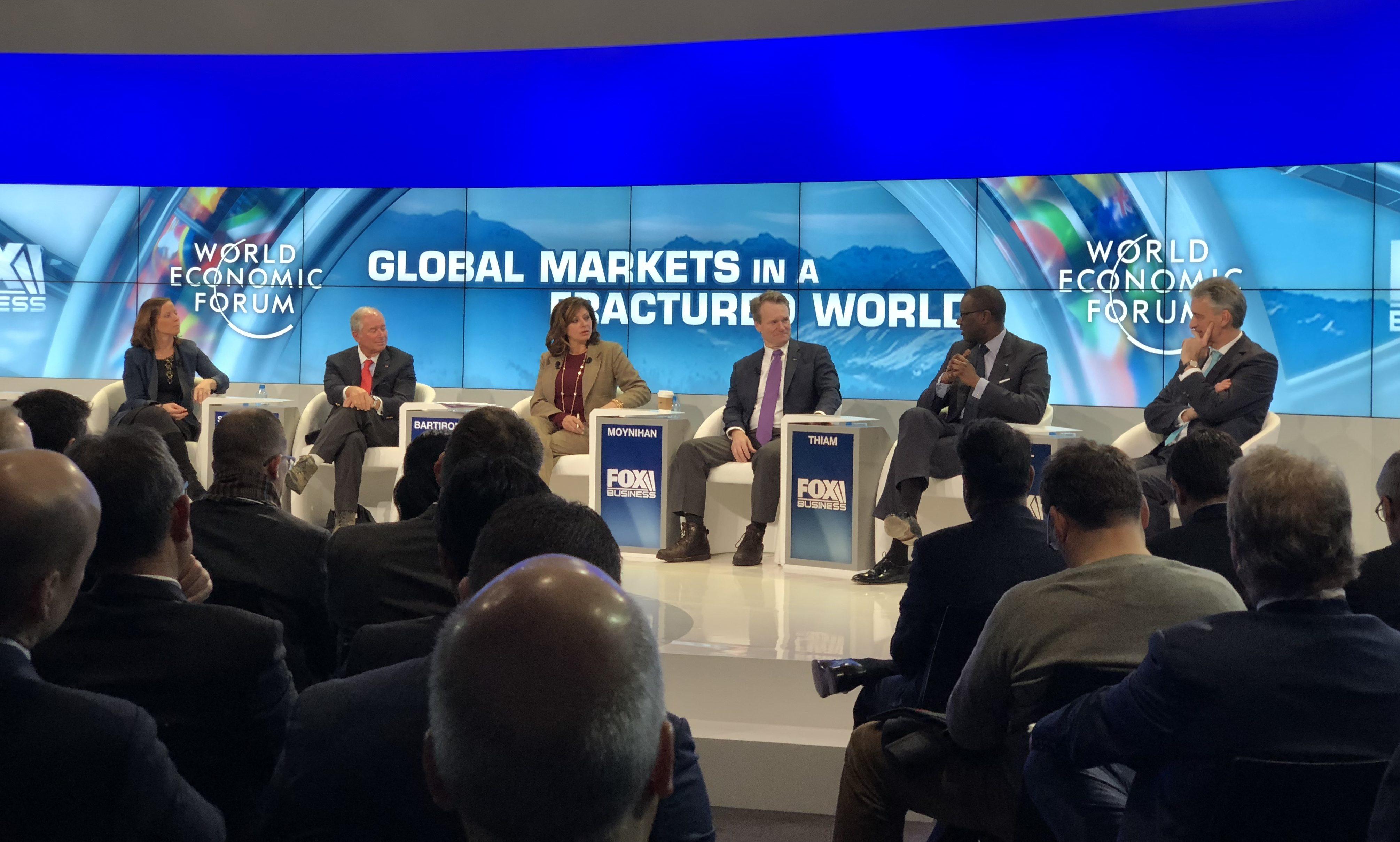 Davos global markets panel 2018