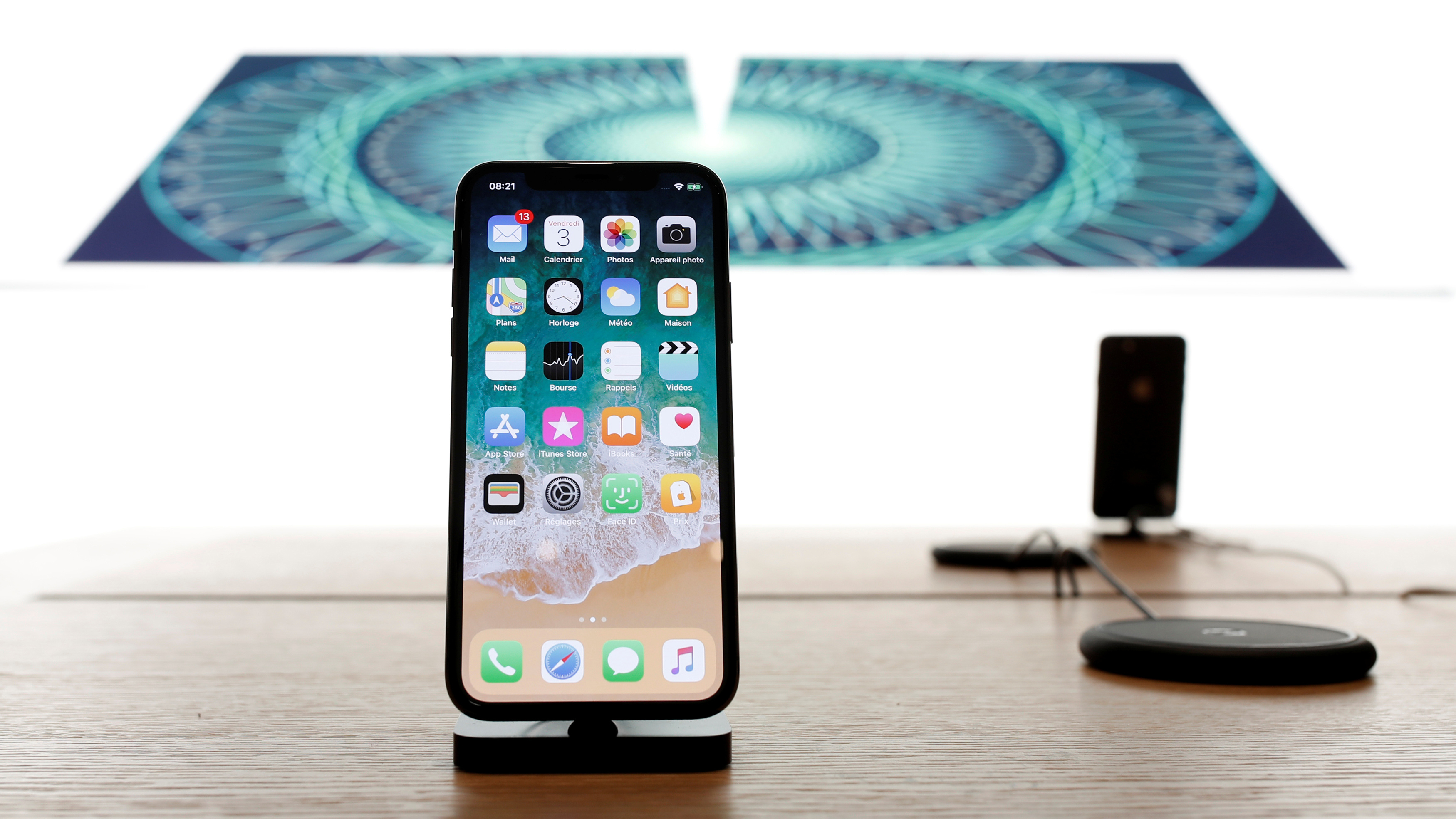 The new iPhone X is pictured at the Apple Store Marche Saint-Germain in Paris, France, November 3, 2017. REUTERS/Benoit Tessier - RC19C42D9860