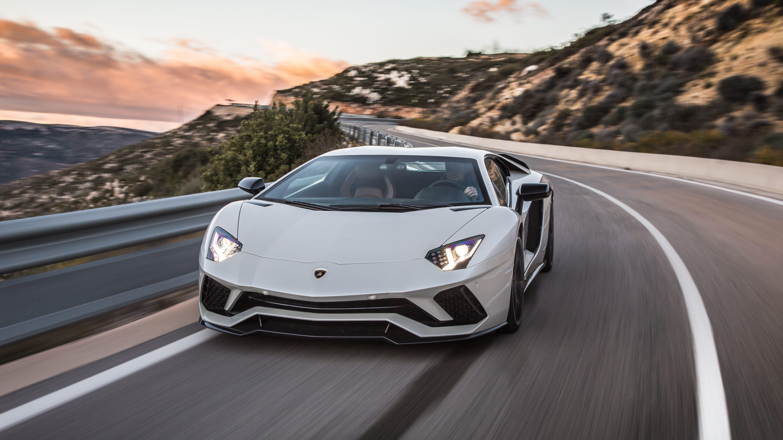Promo Pic Of A White Lamborghini Aventador S  Quartz