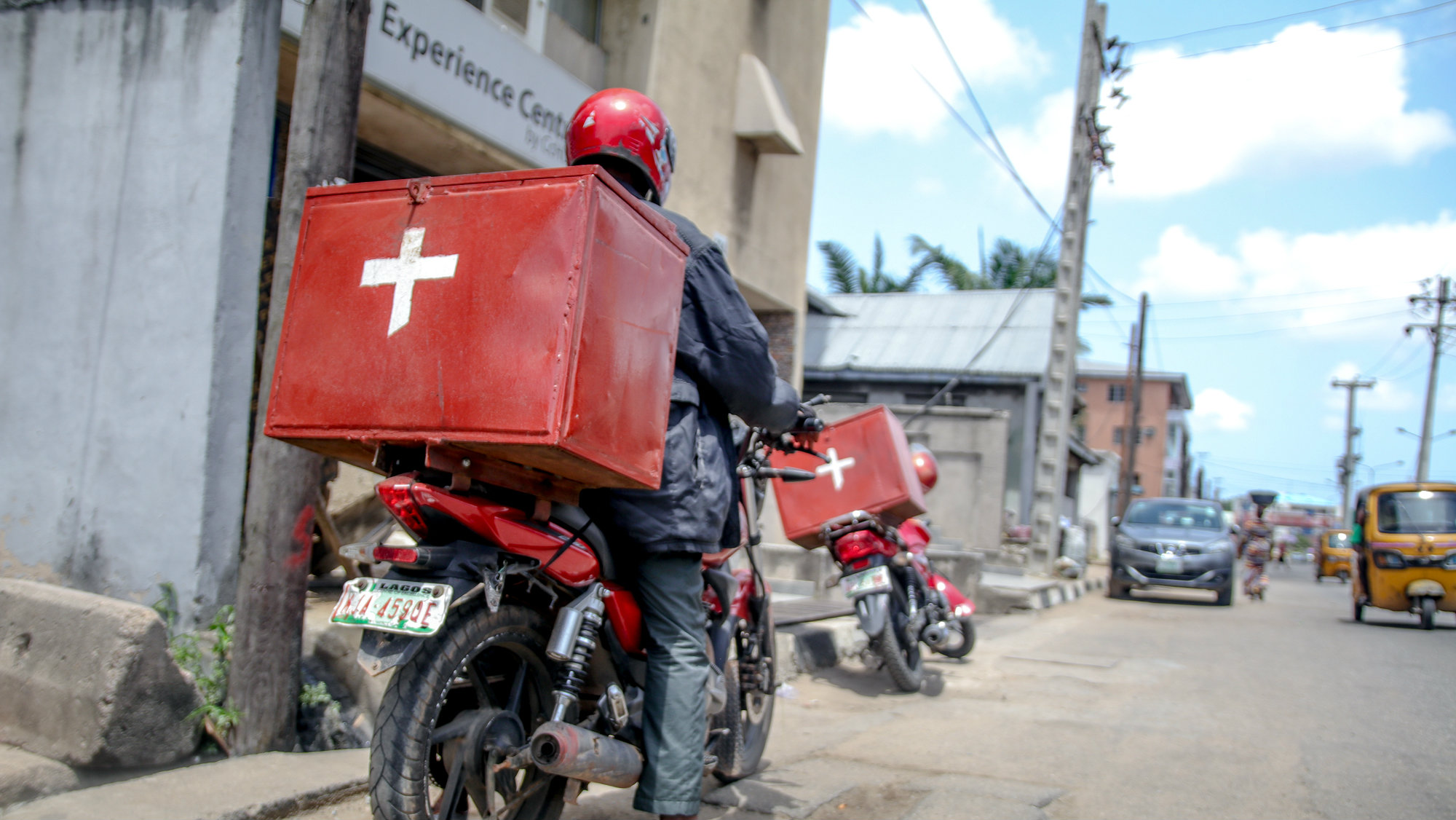 A LifeBank delivery staff.