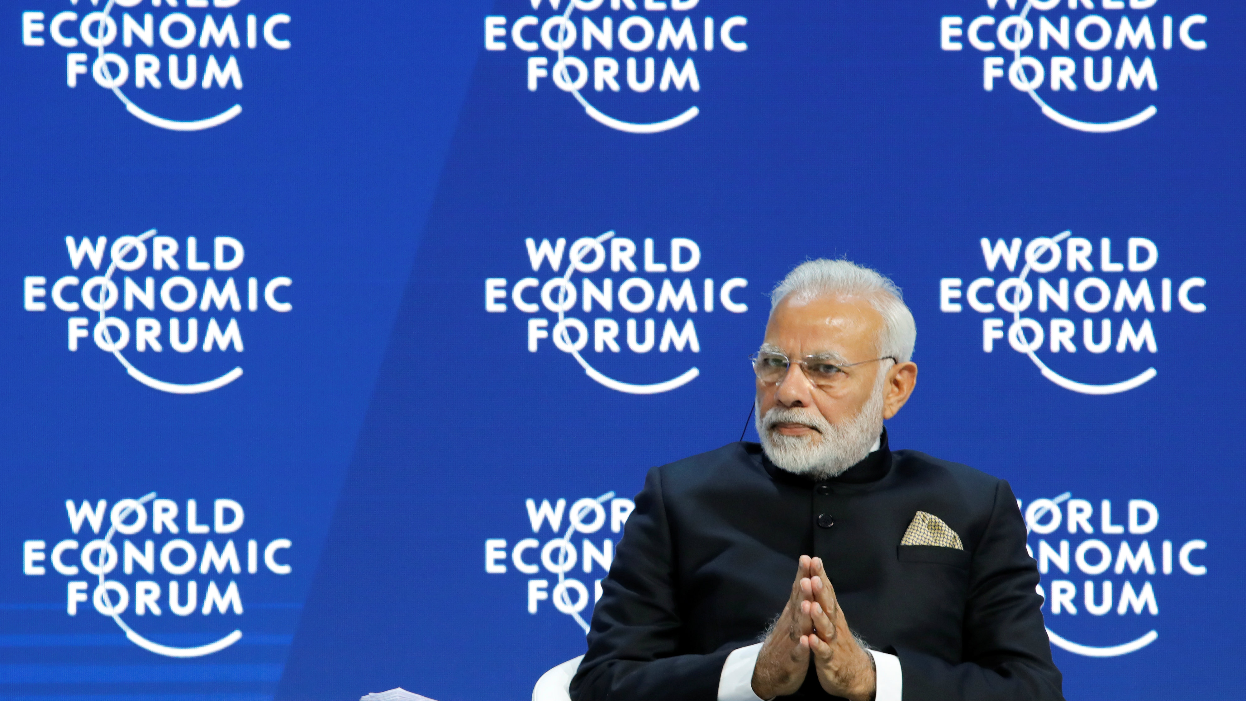 ndia's Prime Minister Narendra Modi at Davos