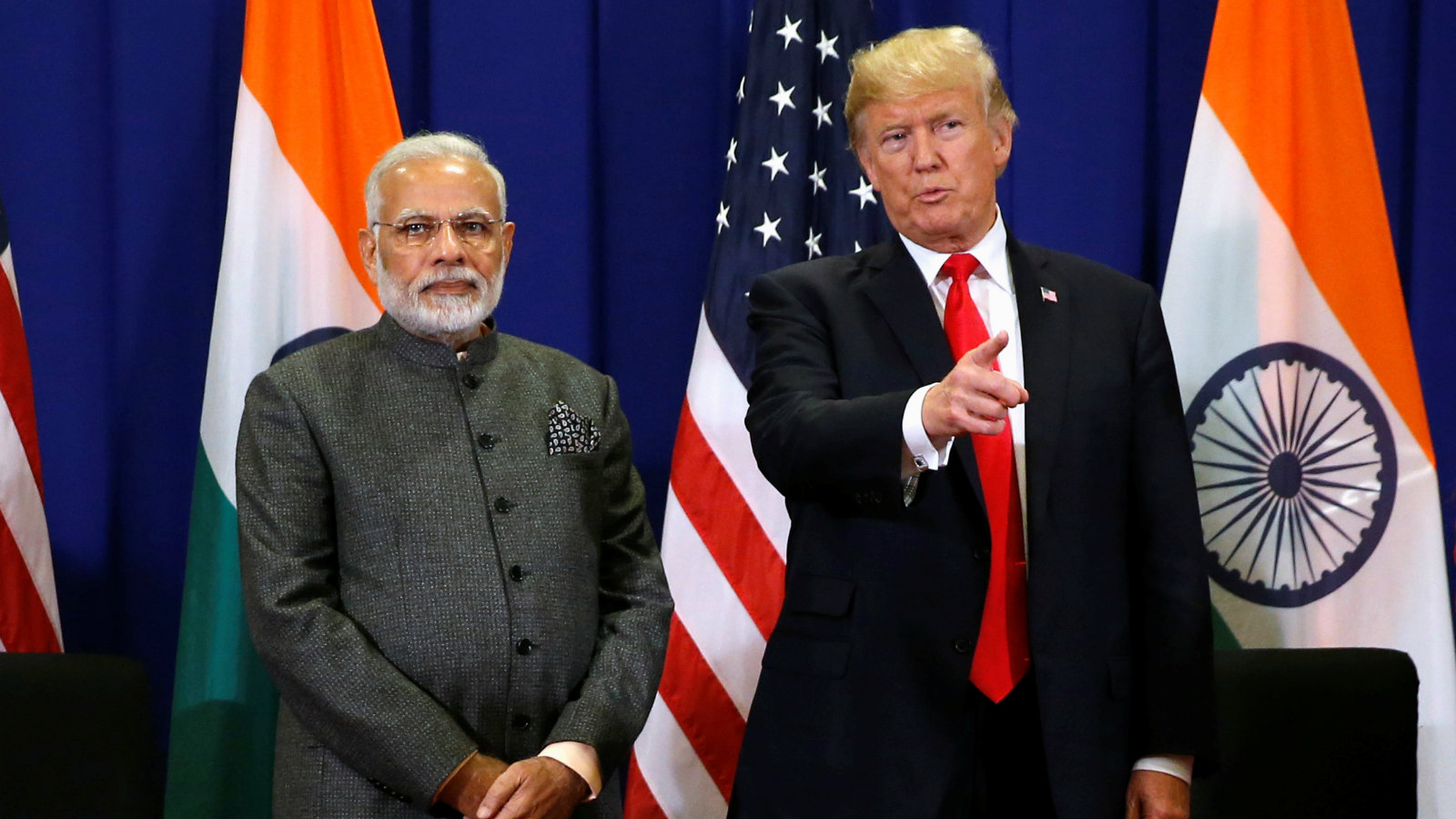 U.S. President Donald Trump holds a bilateral meeting with India's Prime Minister Narendra Modi alongside the ASEAN Summit in Manila, Philippines November 13, 2017.
