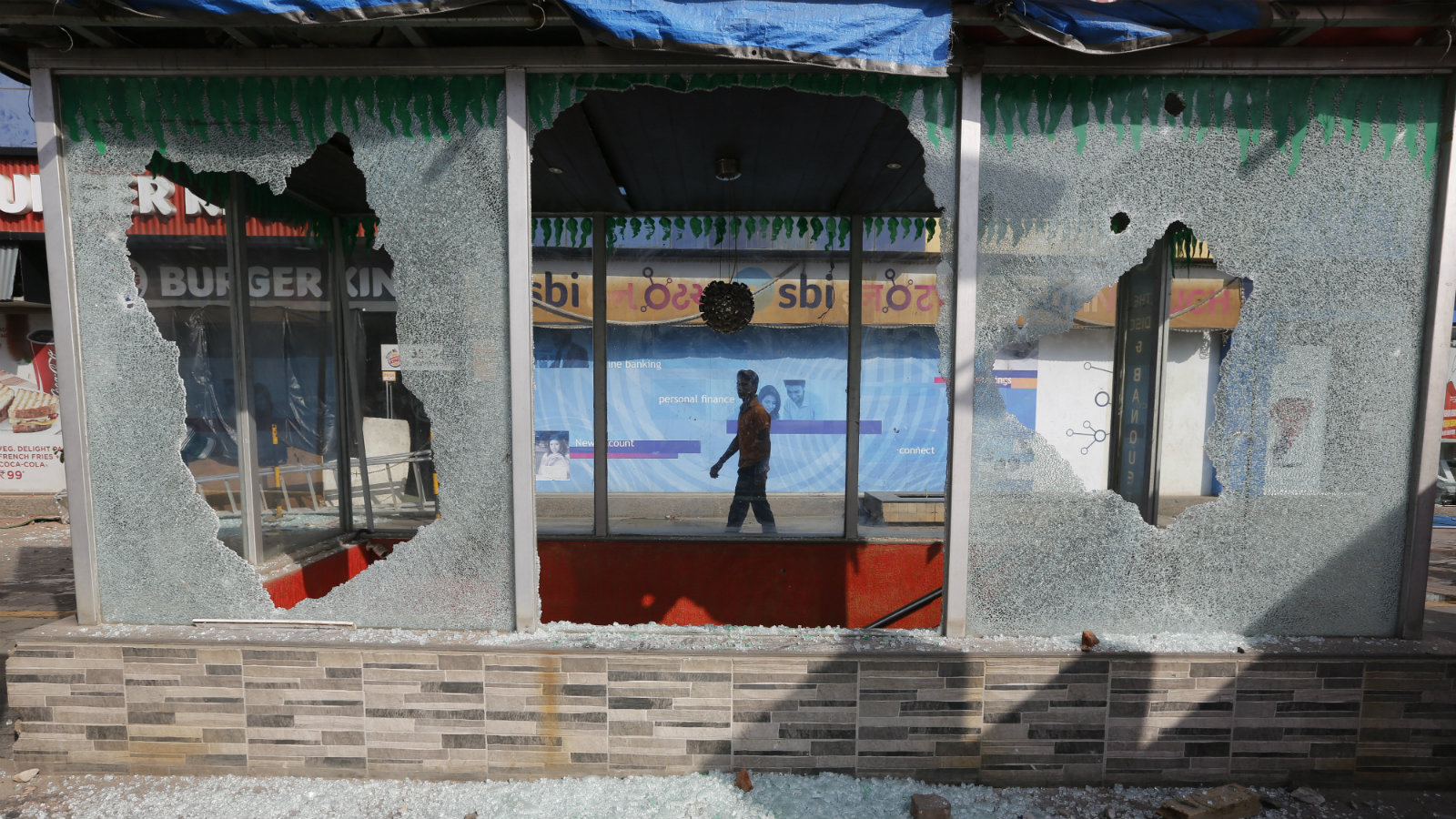 A vandalised store in Ahmadabad, Gujarat, on Jan. 24, 2018. Earlier this week, India's top court lifted a ban imposed by four states on the release of Padmaavat.