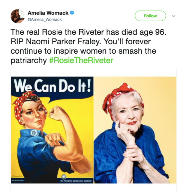 The Real Rosie The Riveter Has Died At The Age Of 96 Quartzy