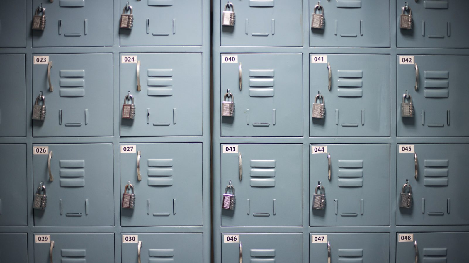 Lockers for workers to place their personal belongings into are seen on the floor of an outsourcing centre in Bangalore, February 29, 2012