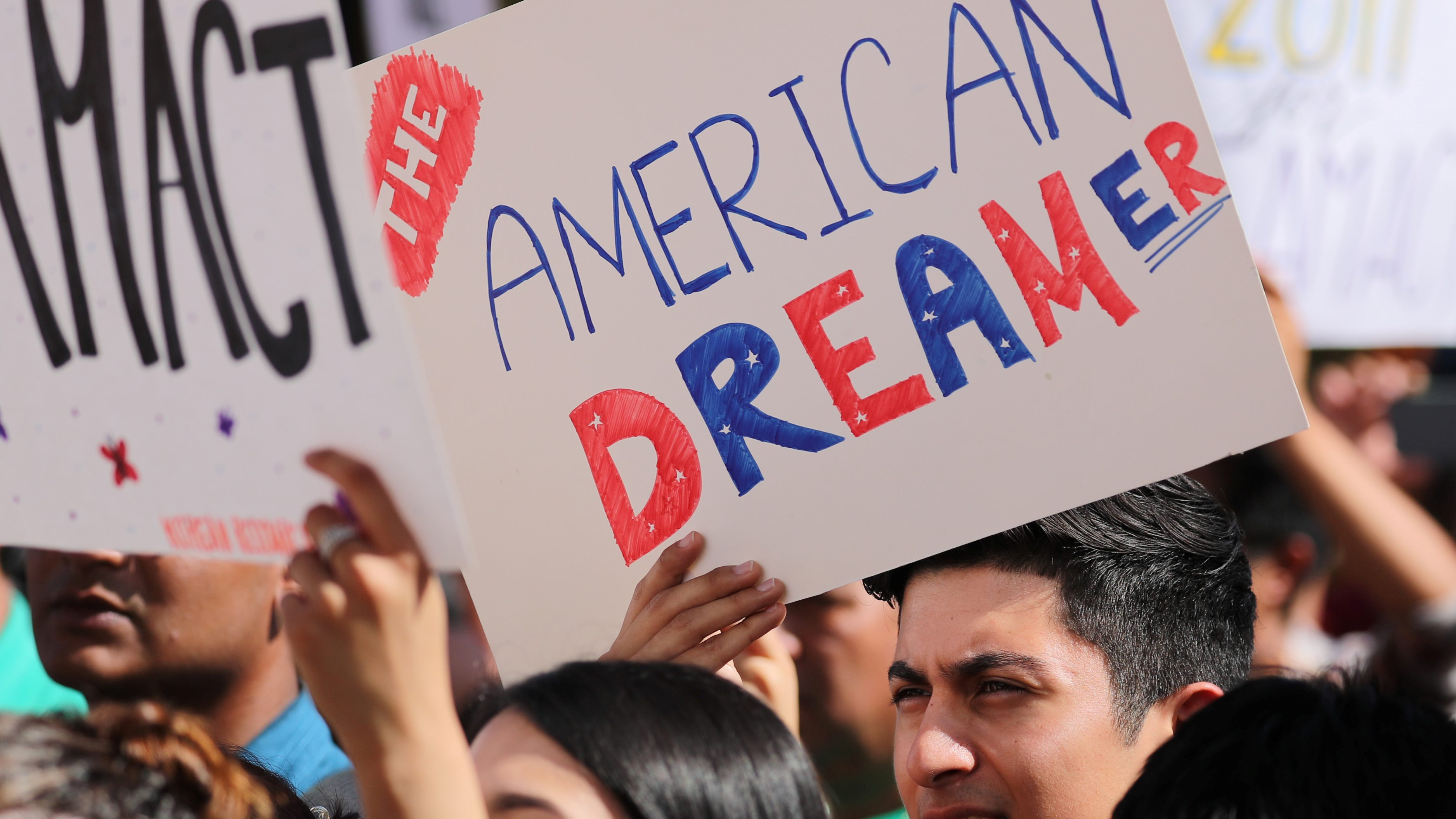 Students gather in support of DACA at the UC in Irvine, California