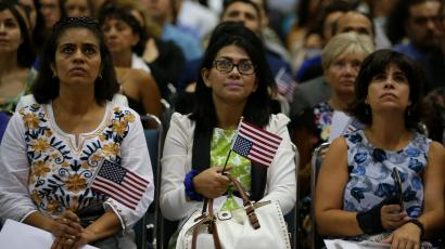Immigration ceremony in Los Angeles for new United States citizens