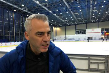 French Canadian coach Bruno Marcotte speaks with Reuters in Warsaw, Poland November 16, 2017. Picture taken November 16, 2017.
