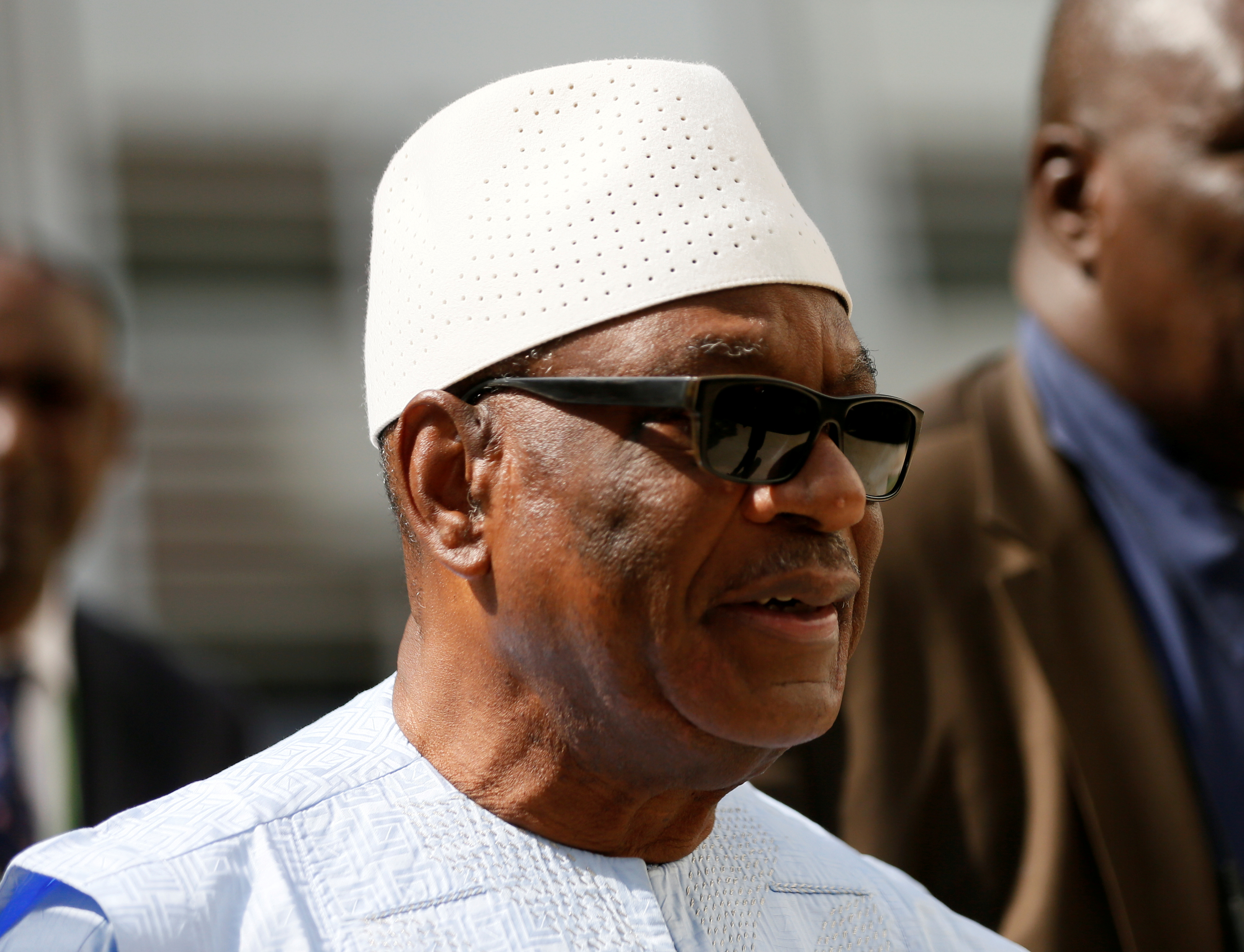 Mali's President Ibrahim Boubacar Keita is seen on arrival for the ECOWAS meeting in Abuja, Nigeria December 16, 2017.